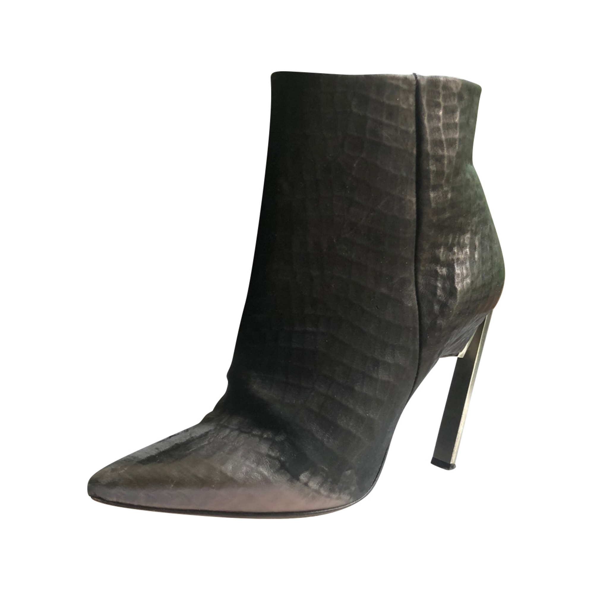 Bottines & low boots à talons VIC MATIÉ Argenté, acier