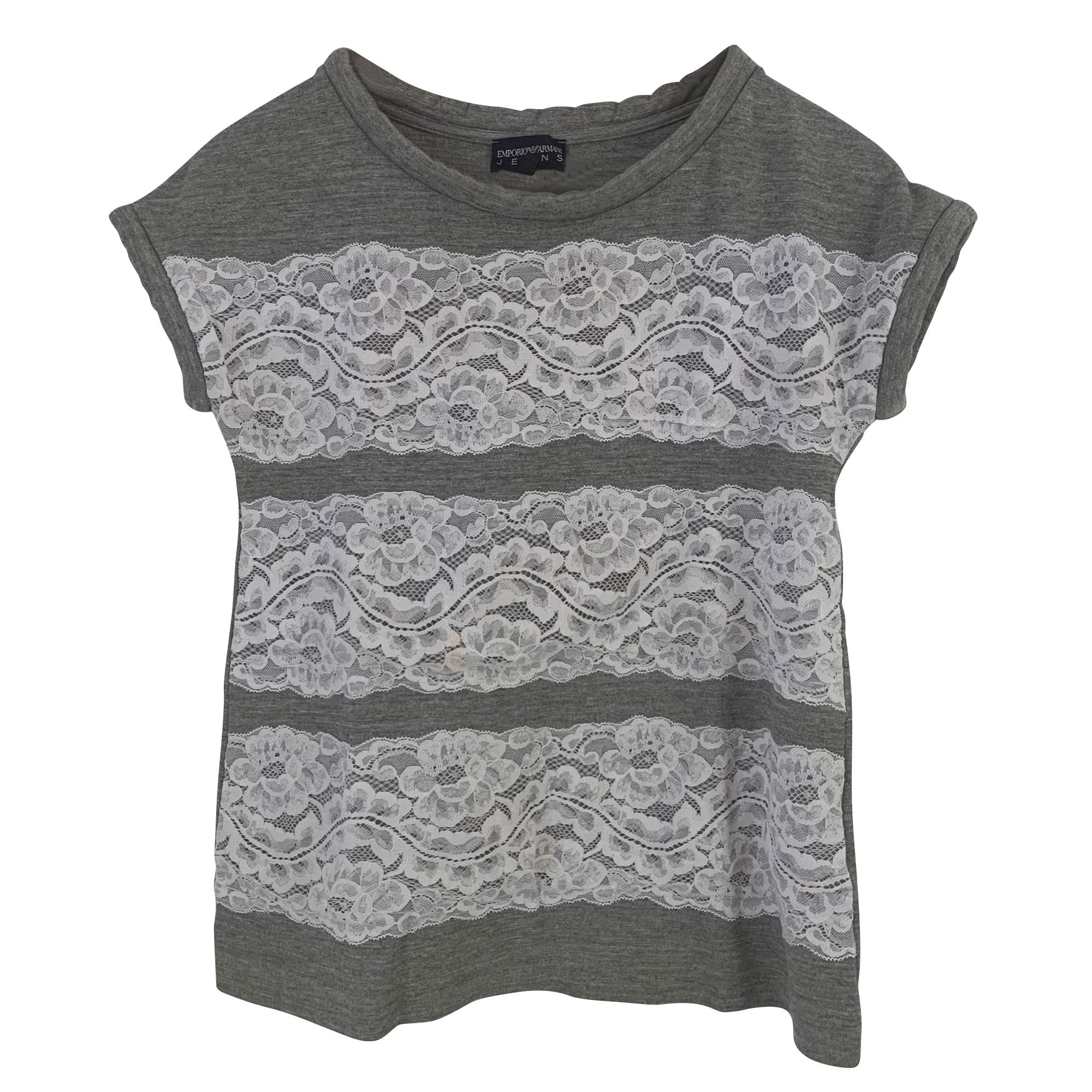 Top, tee-shirt EMPORIO ARMANI Gris, anthracite