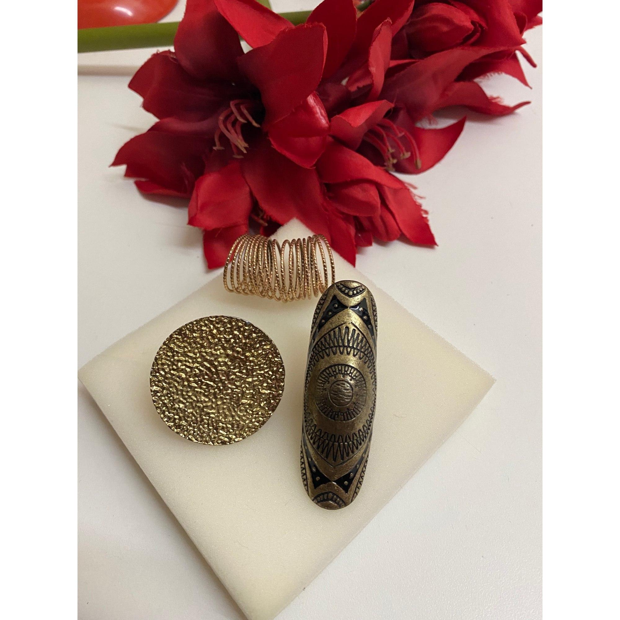 Bague VINTAGE Doré, bronze, cuivre