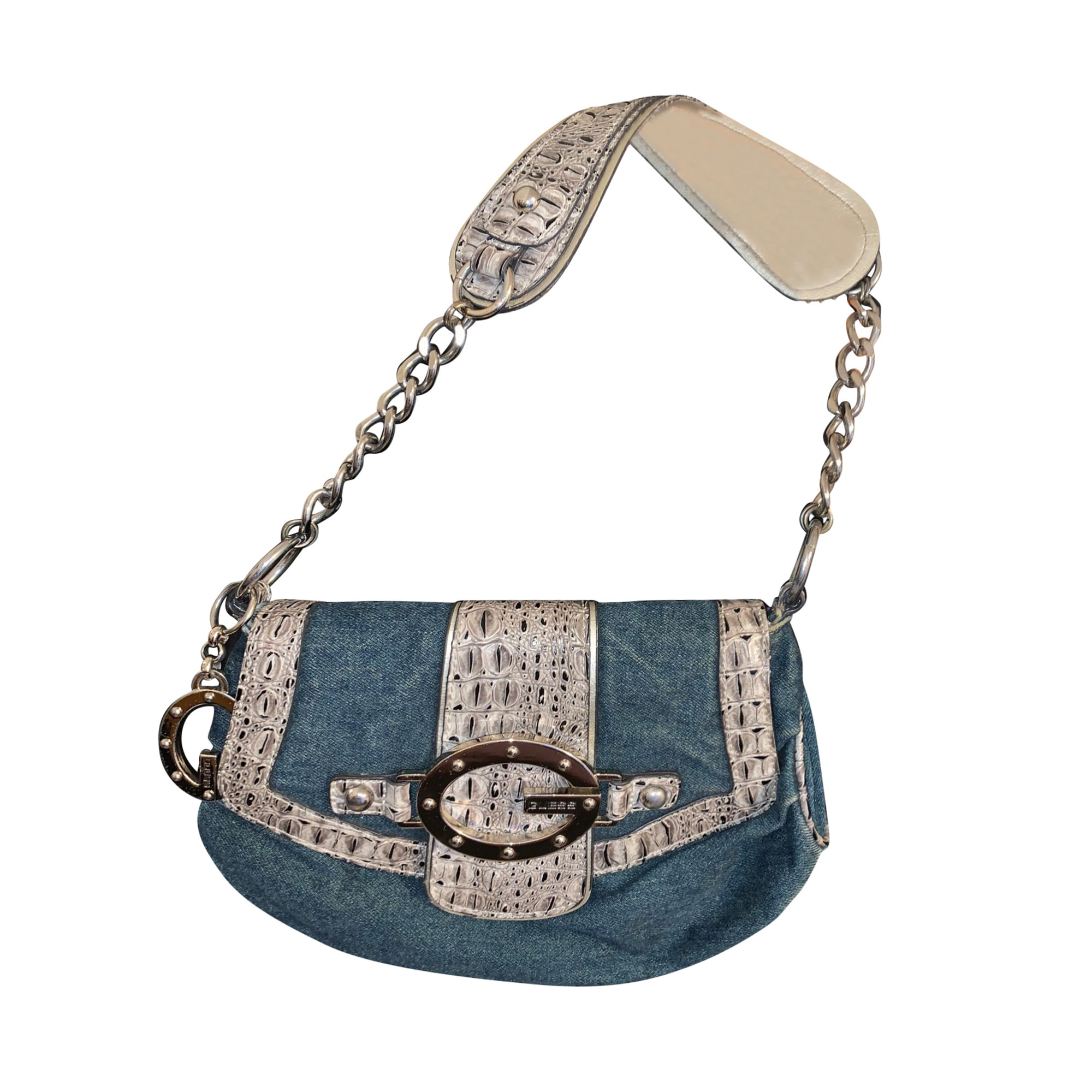 Non-Leather Handbag GUESS Blue, navy, turquoise