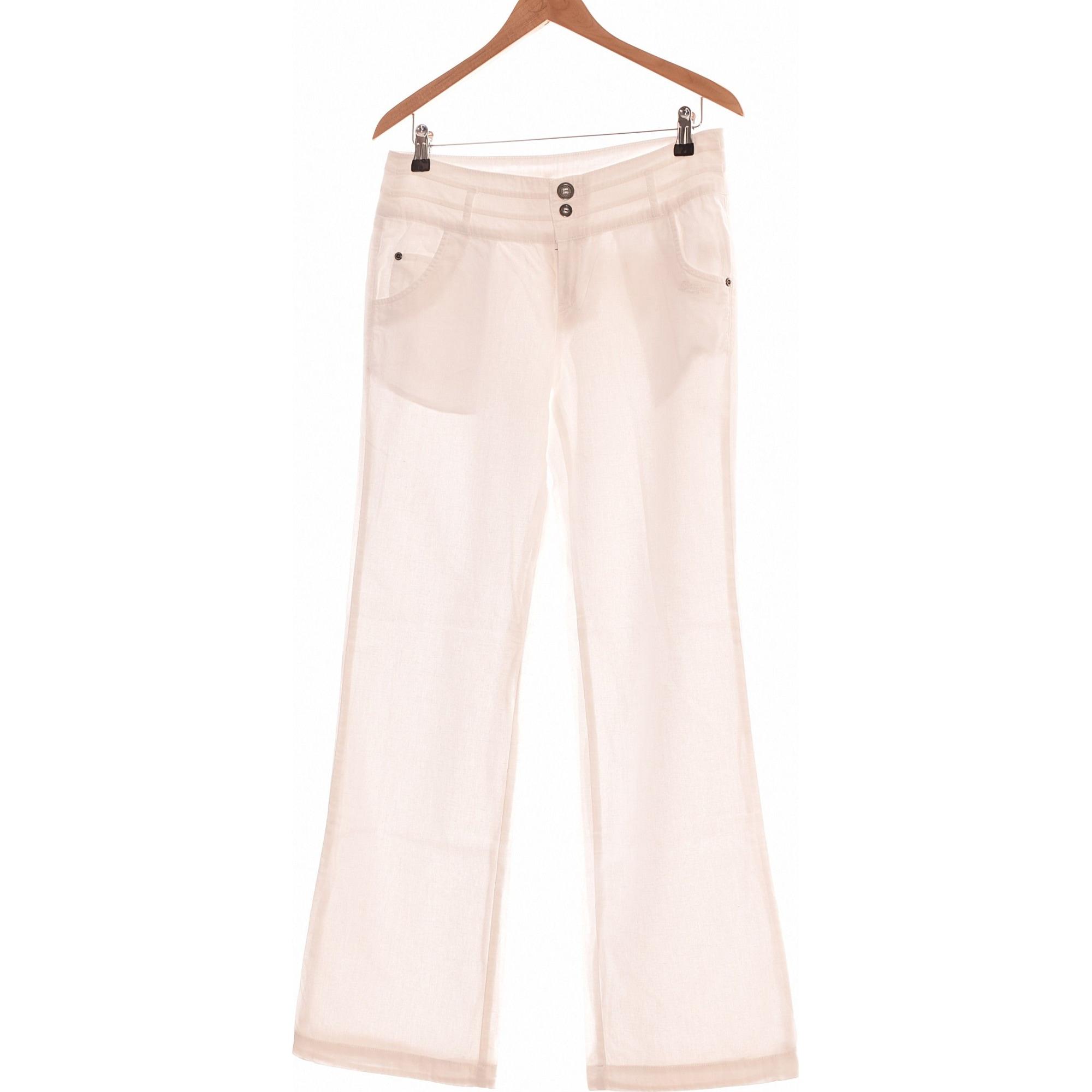 Pantalon droit DDP Blanc, blanc cassé, écru