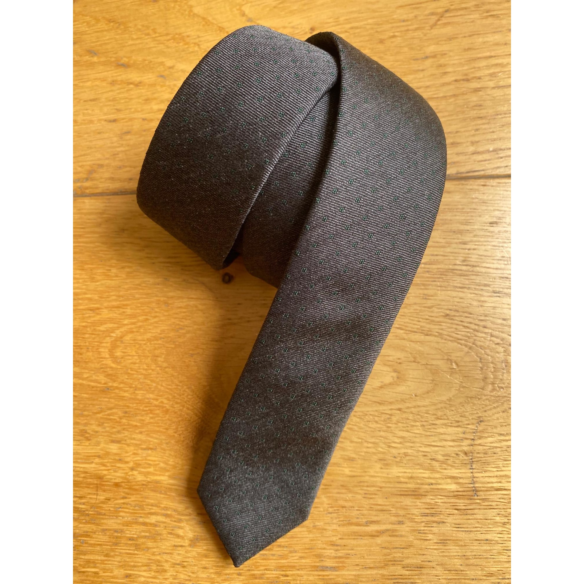 Tie DIOR Gray, charcoal