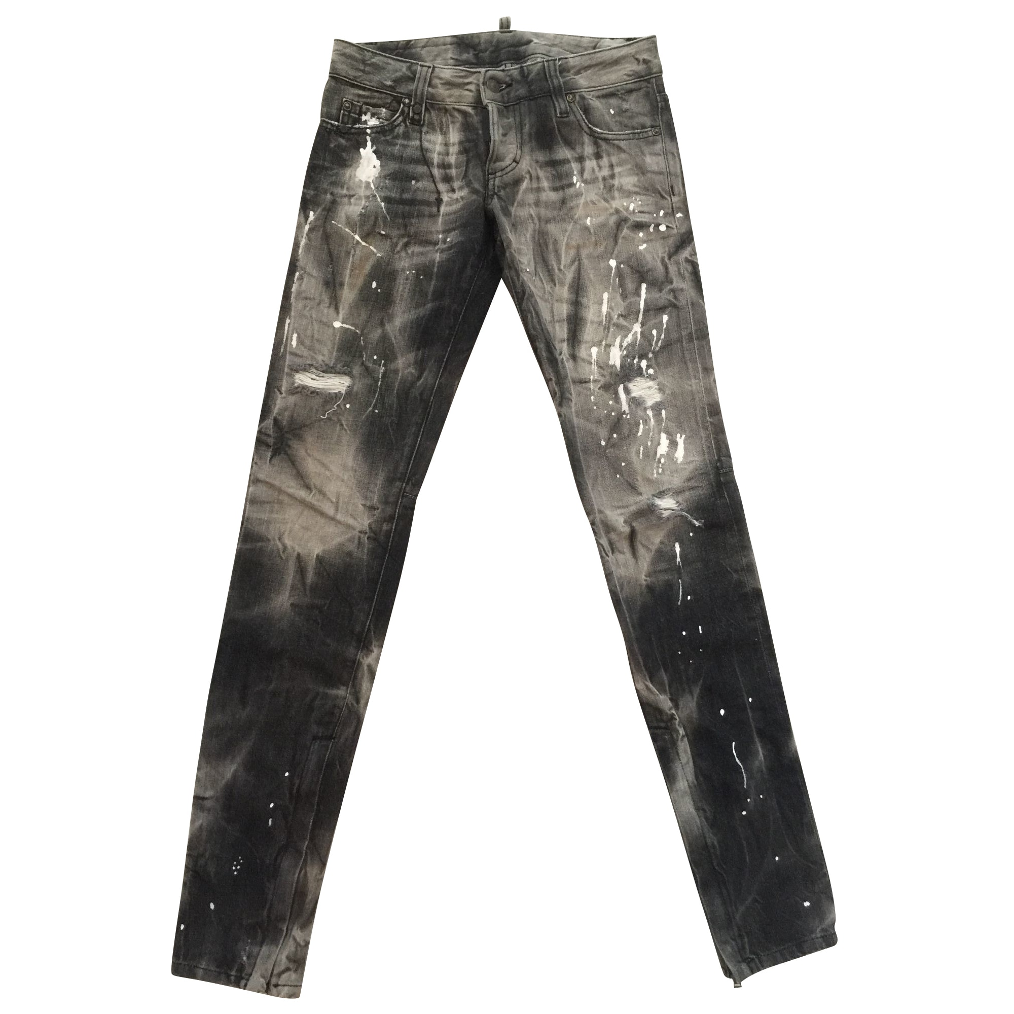 Jeans slim DSQUARED2 Gris, anthracite
