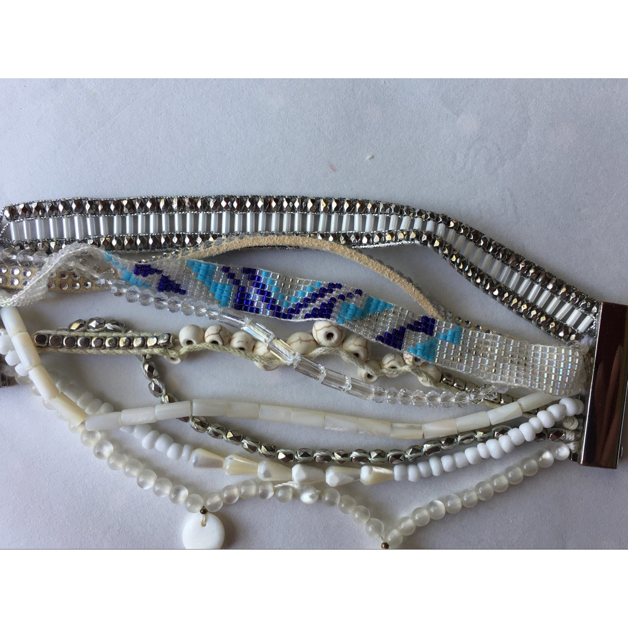 Bracelet HIPANEMA Blanc, blanc cassé, écru