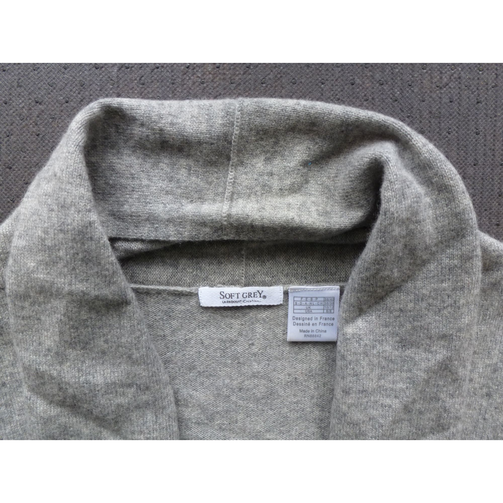 Pull SOFT GREY Gris, anthracite