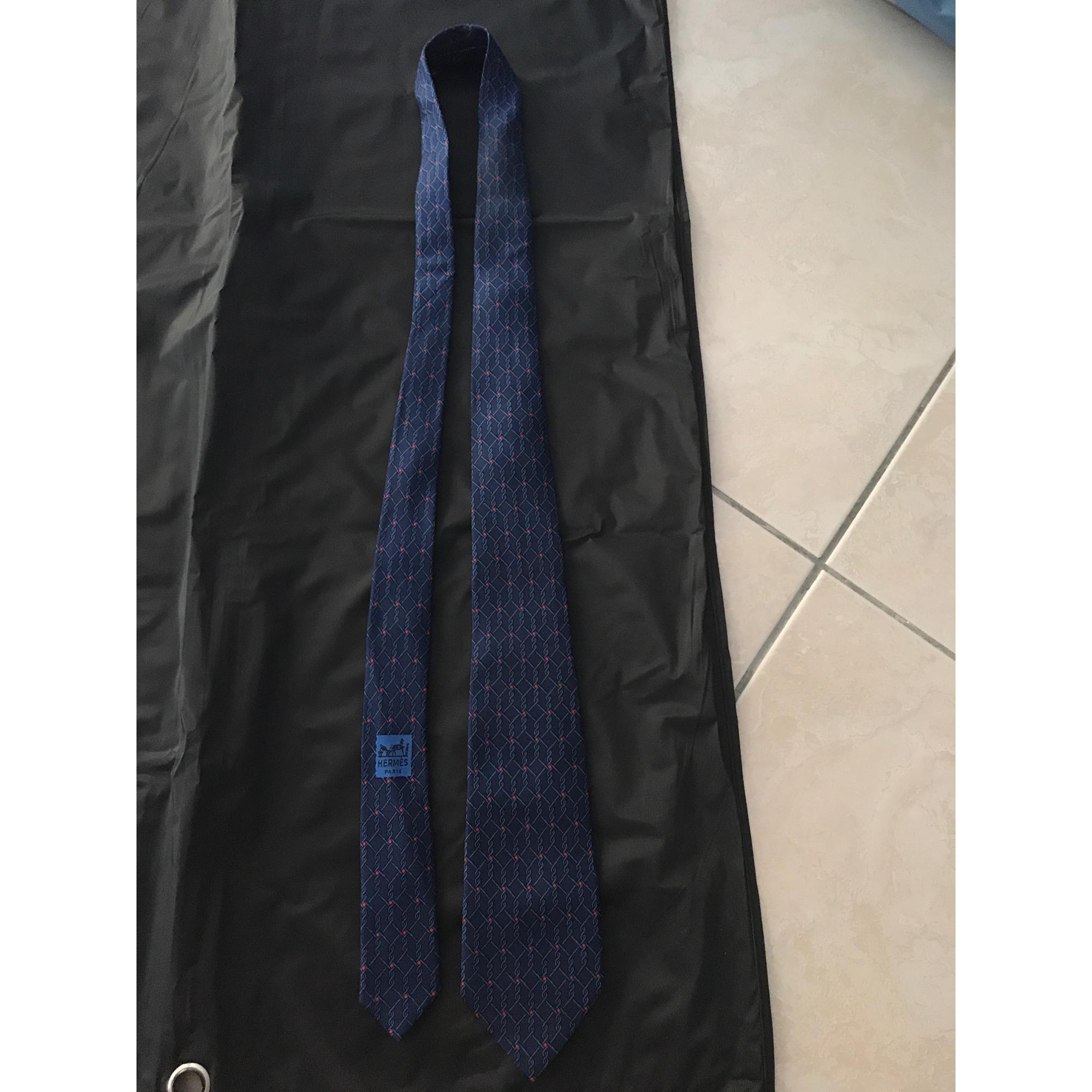 Krawatte HERMÈS Blau, marineblau, türkisblau