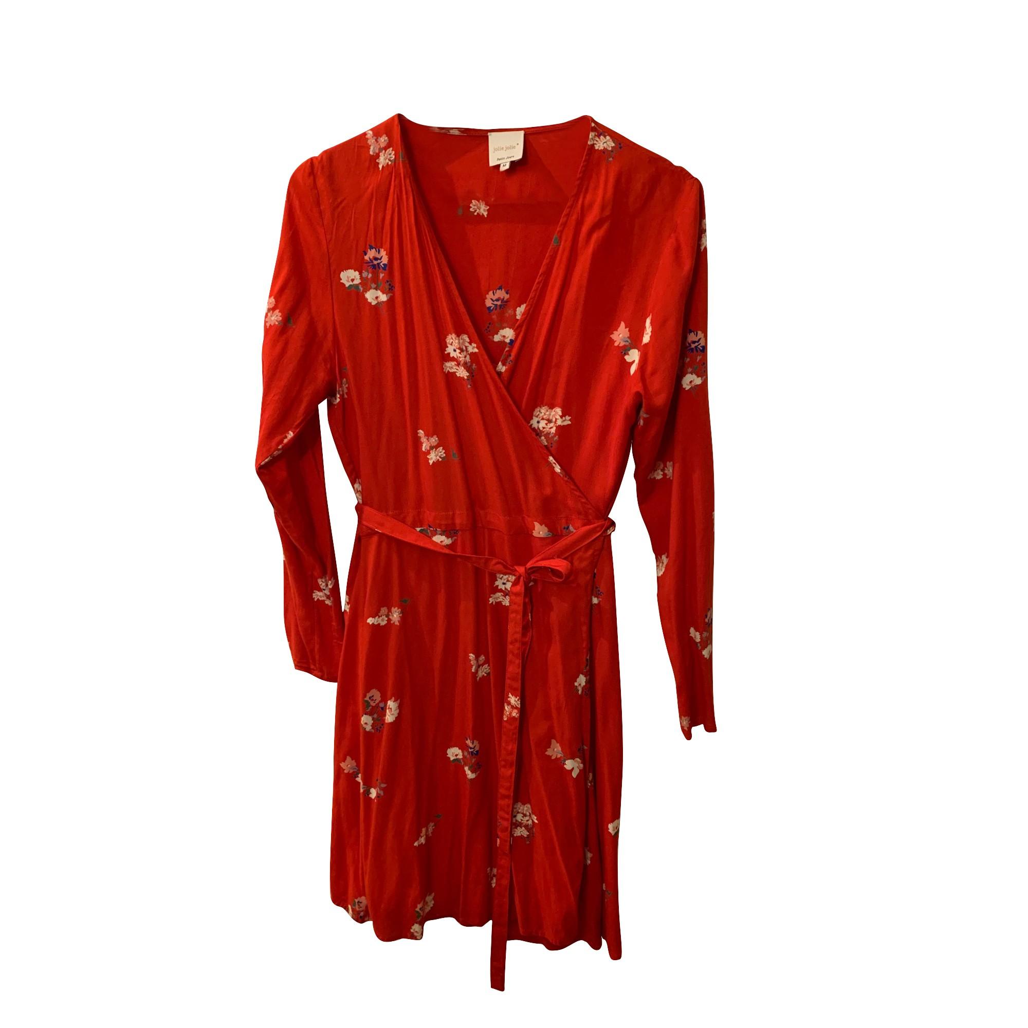 Robe mi-longue PETITE MENDIGOTE Rouge, bordeaux