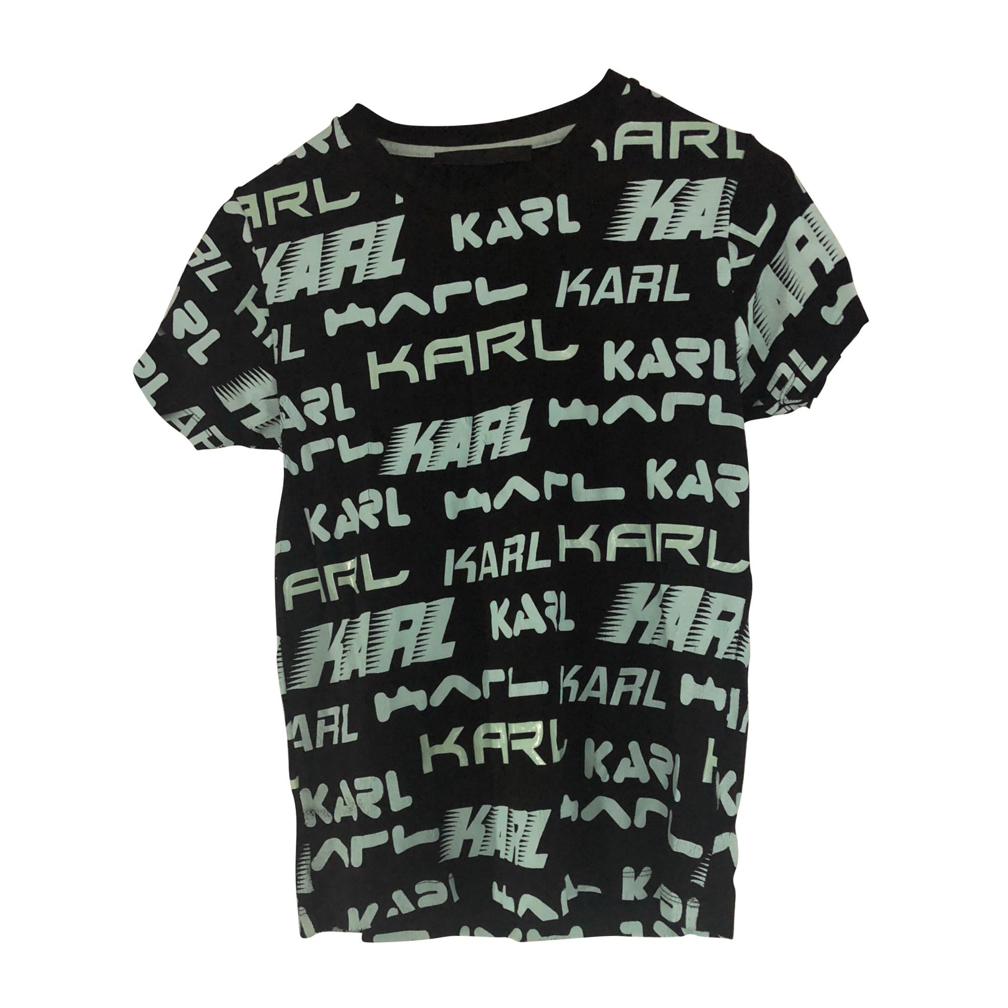 Top, tee-shirt KARL LAGERFELD Bleu, bleu marine, bleu turquoise