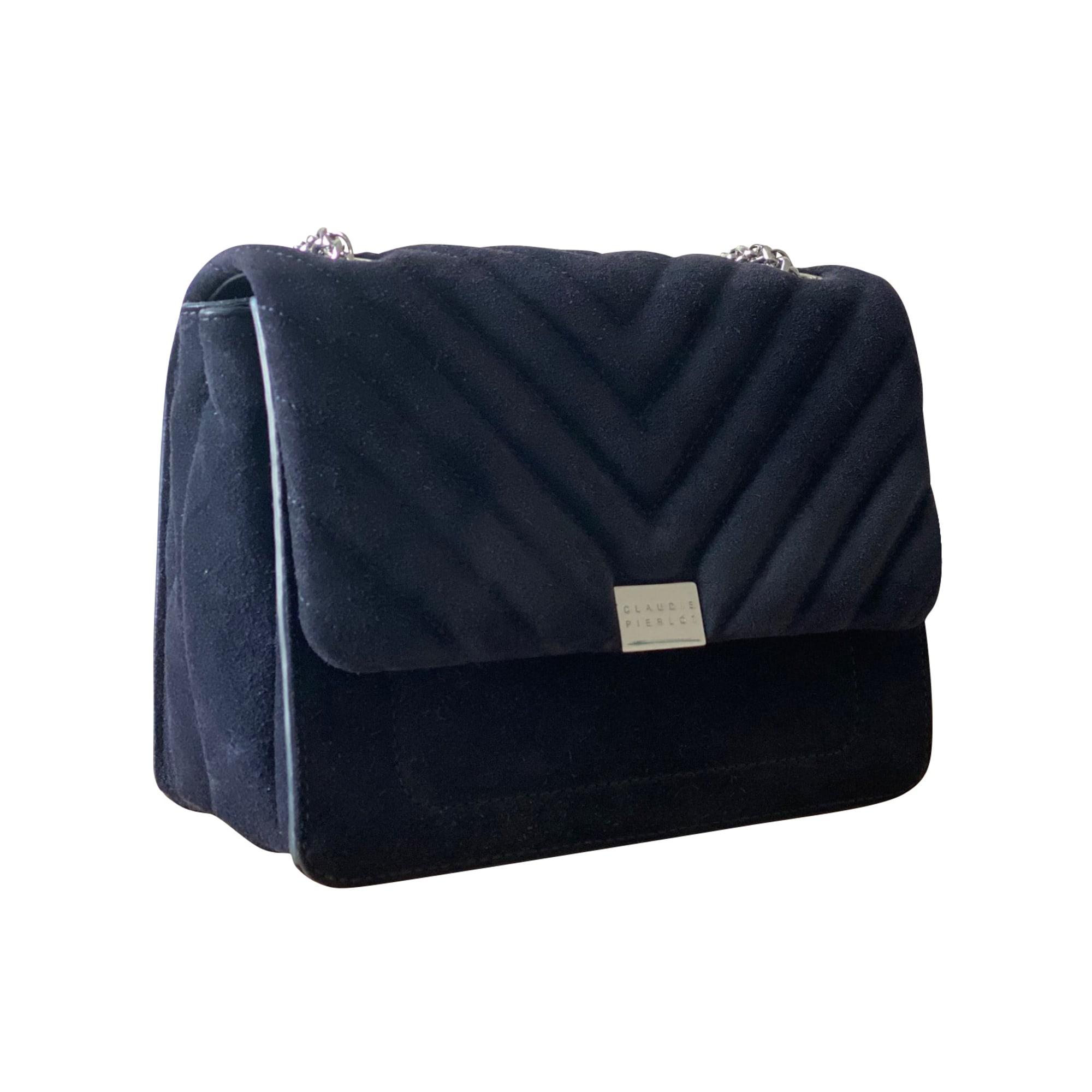 Leather Handbag CLAUDIE PIERLOT Blue, navy, turquoise