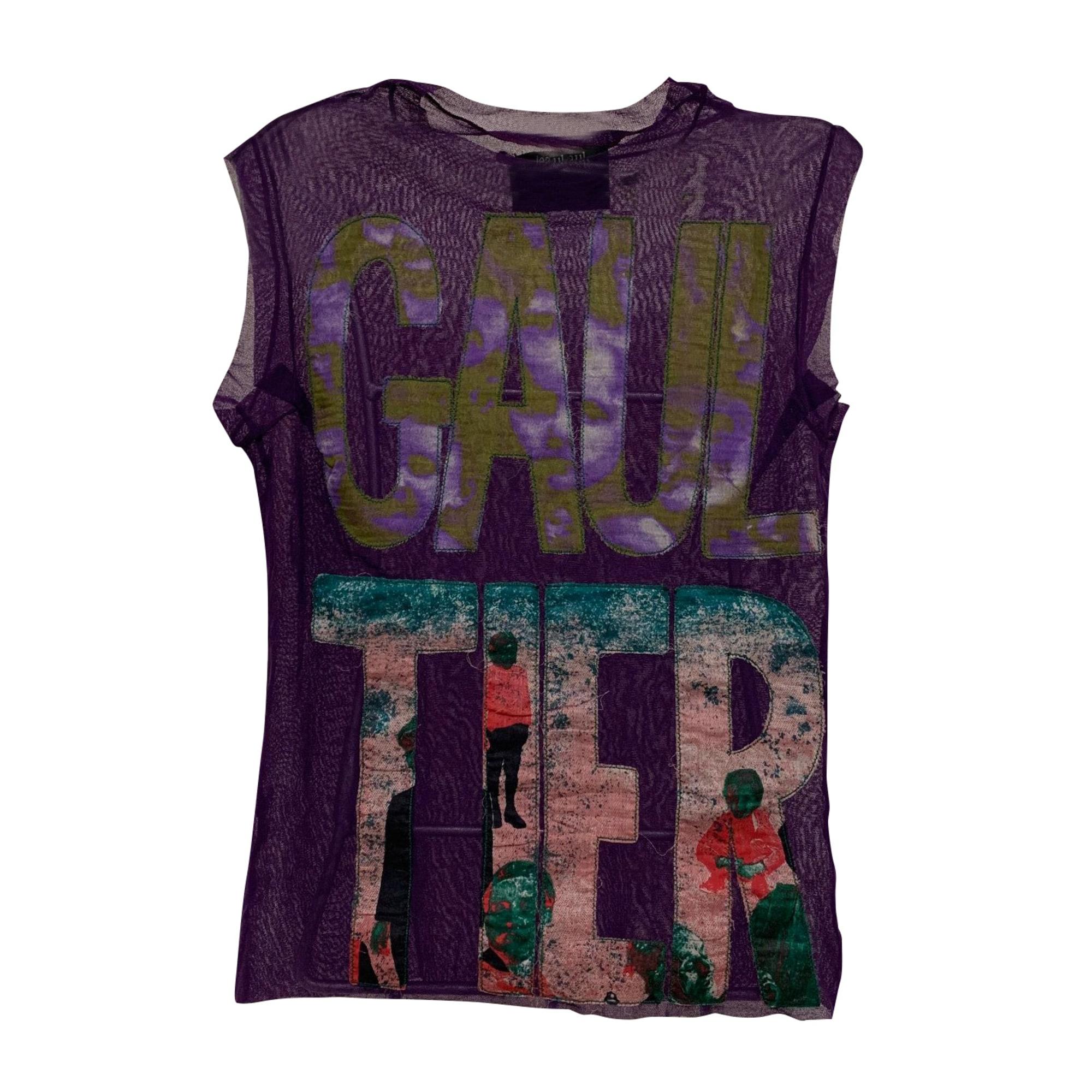 Top, tee-shirt JEAN PAUL GAULTIER Violet, mauve, lavande