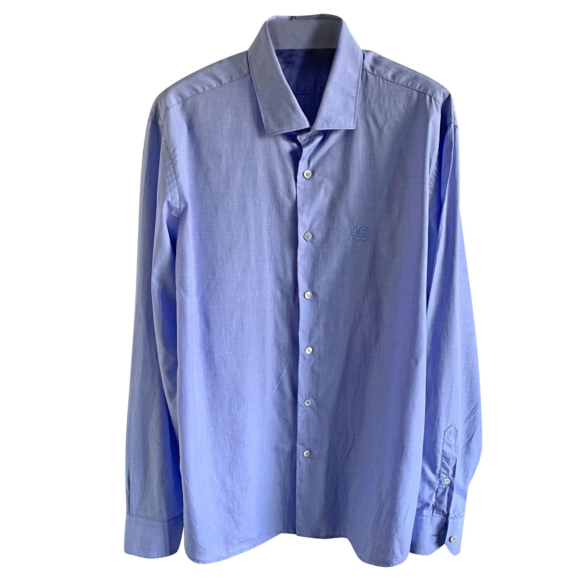 Chemise ROBERTO CAVALLI Bleu, bleu marine, bleu turquoise