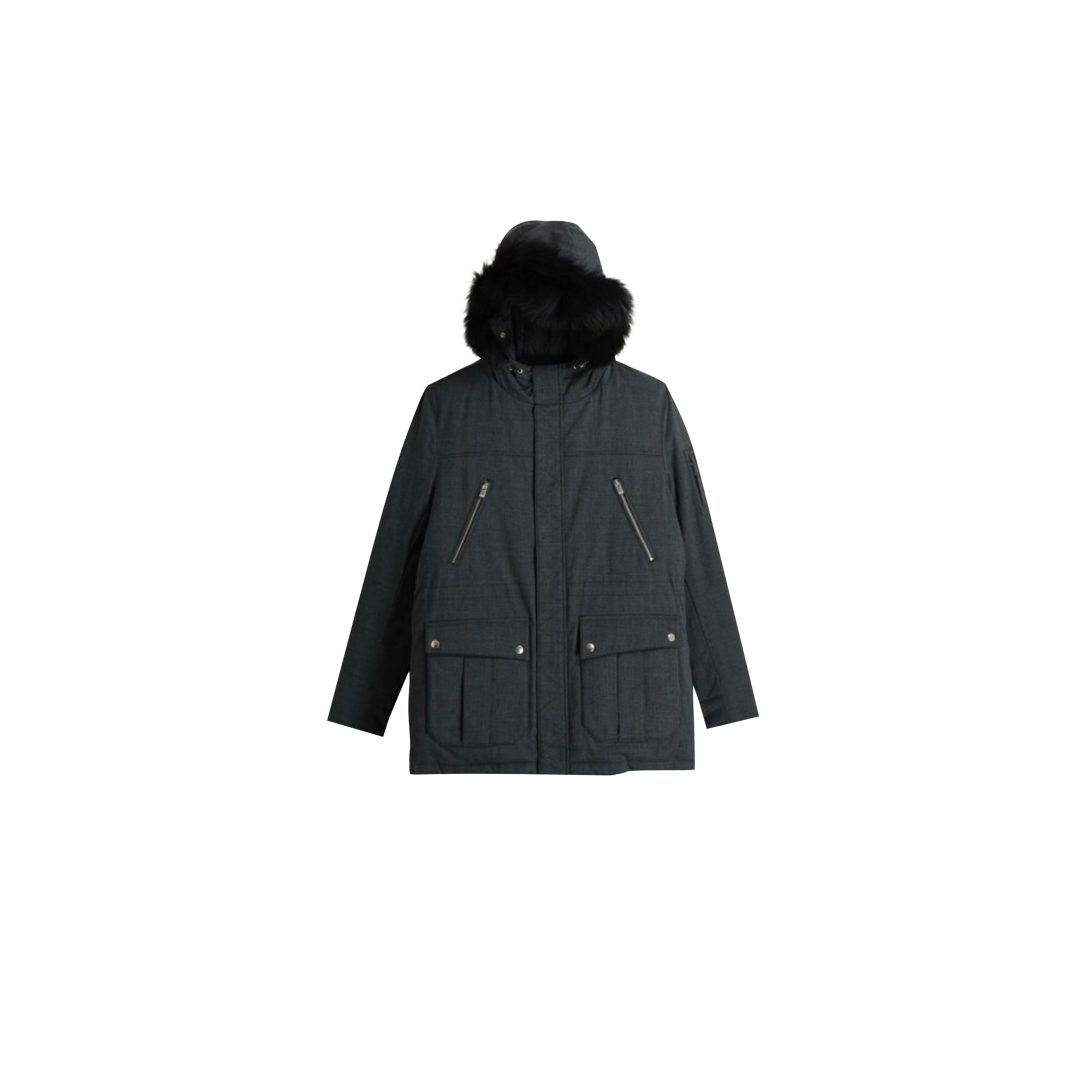Parka THE KOOPLES Gris, anthracite