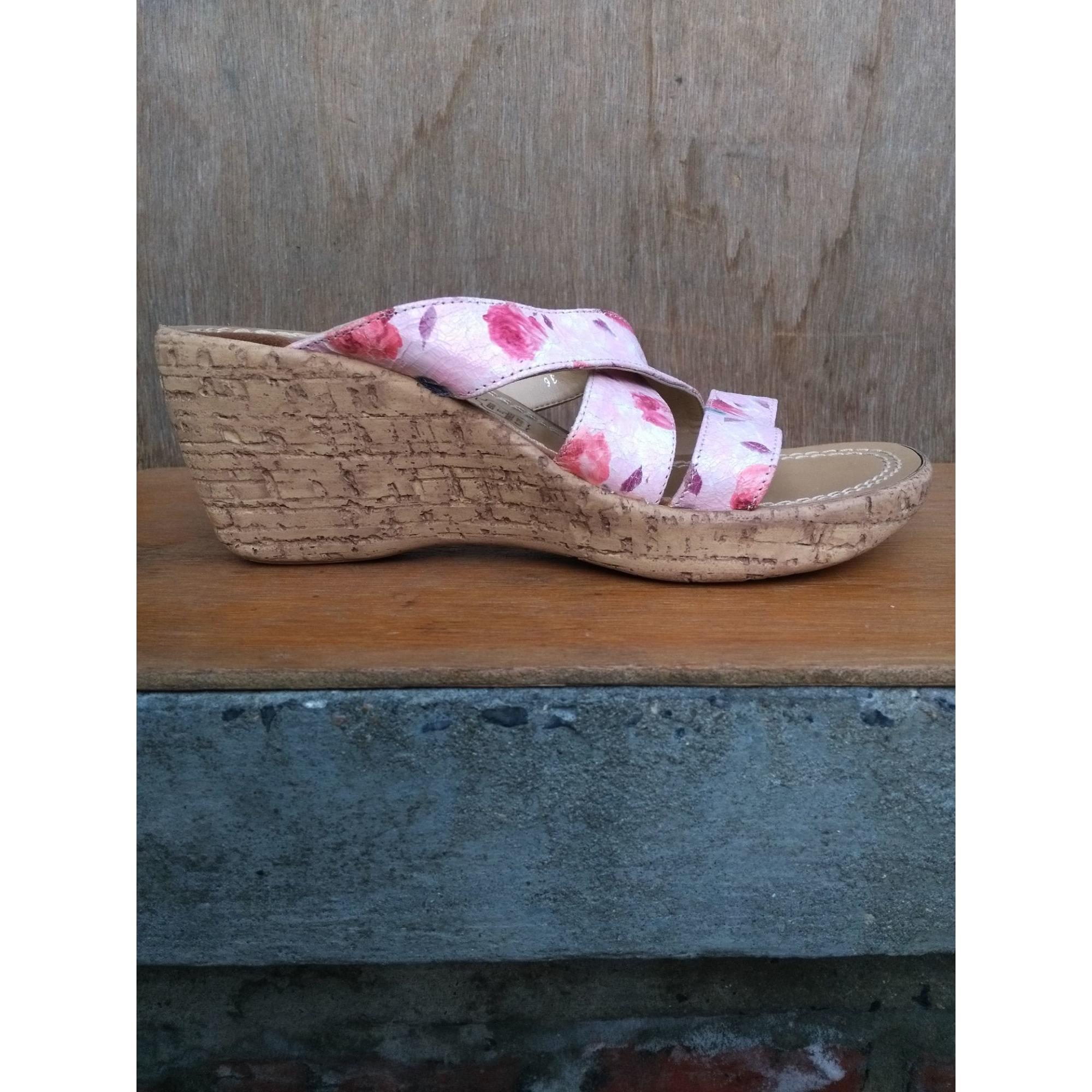 Sandales compensées STREET SHOES Rose, fuschia, vieux rose