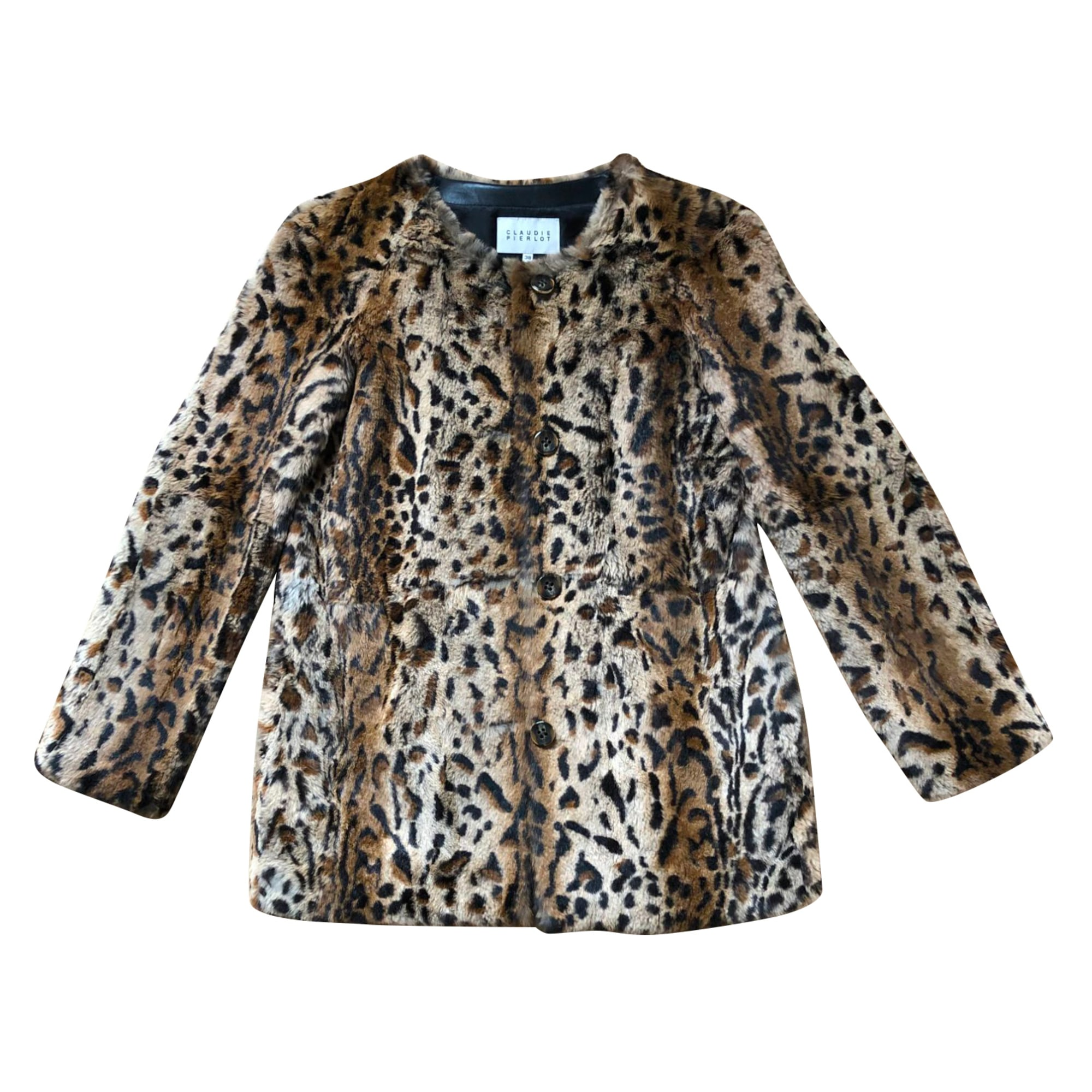 Fur Coat CLAUDIE PIERLOT Animal prints