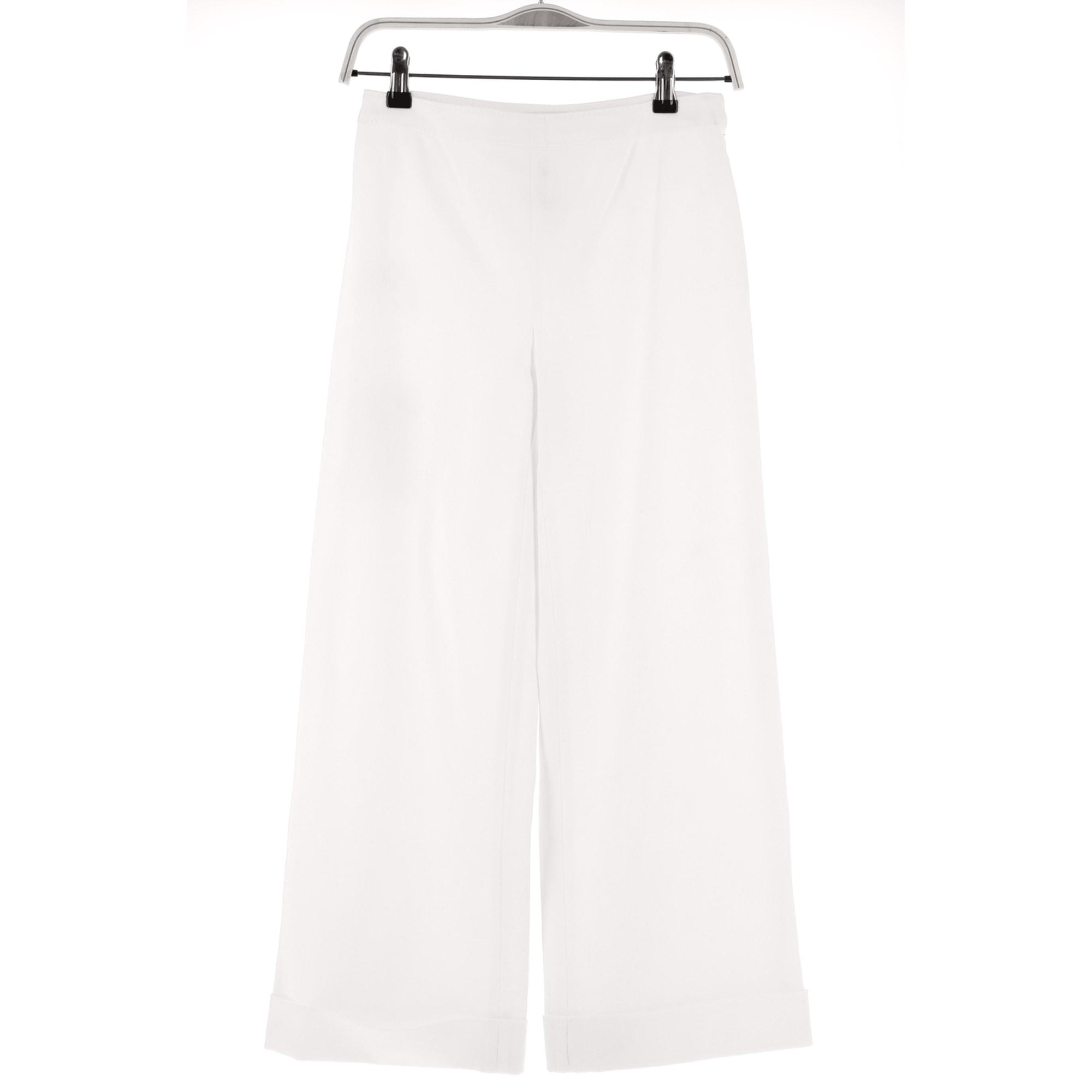 Pantalon droit VALENTINO Blanc, blanc cassé, écru