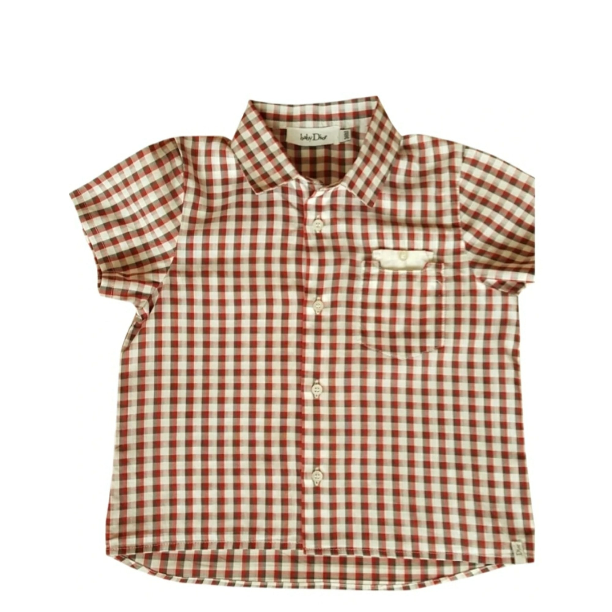 Short-sleeved Shirt BABY DIOR Blanc,rouge,gris