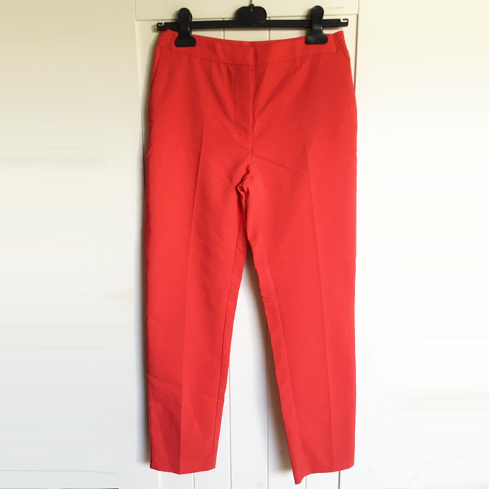 Pantalon droit CAMAIEU Rouge, bordeaux