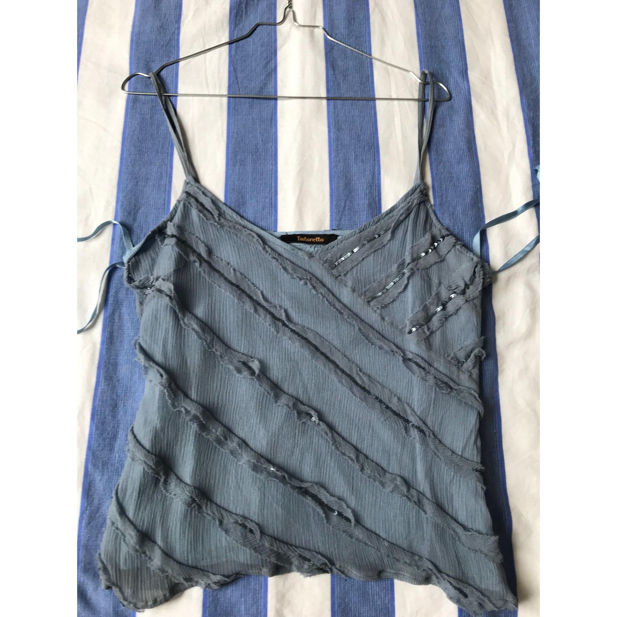 Top, tee-shirt TINTORETTO Bleu, bleu marine, bleu turquoise