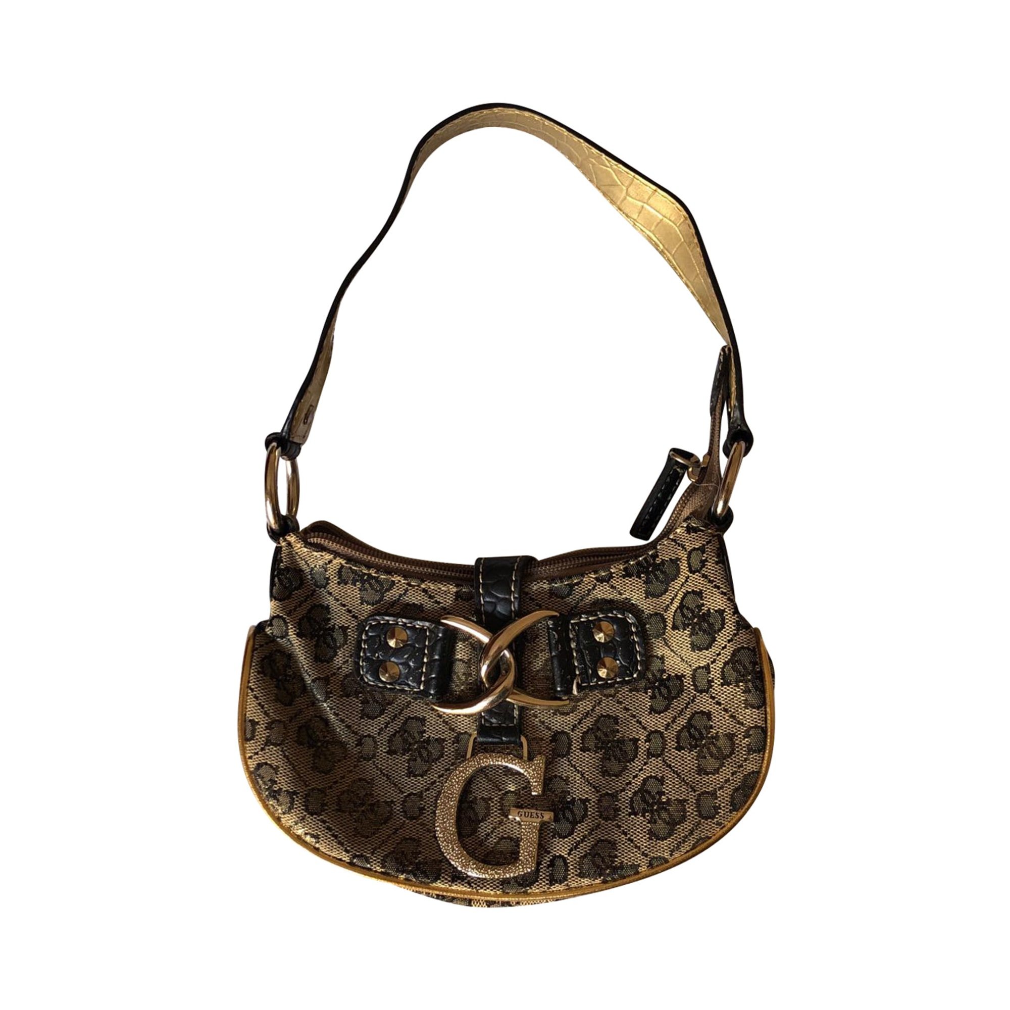 Leather Handbag GUESS Golden, bronze, copper