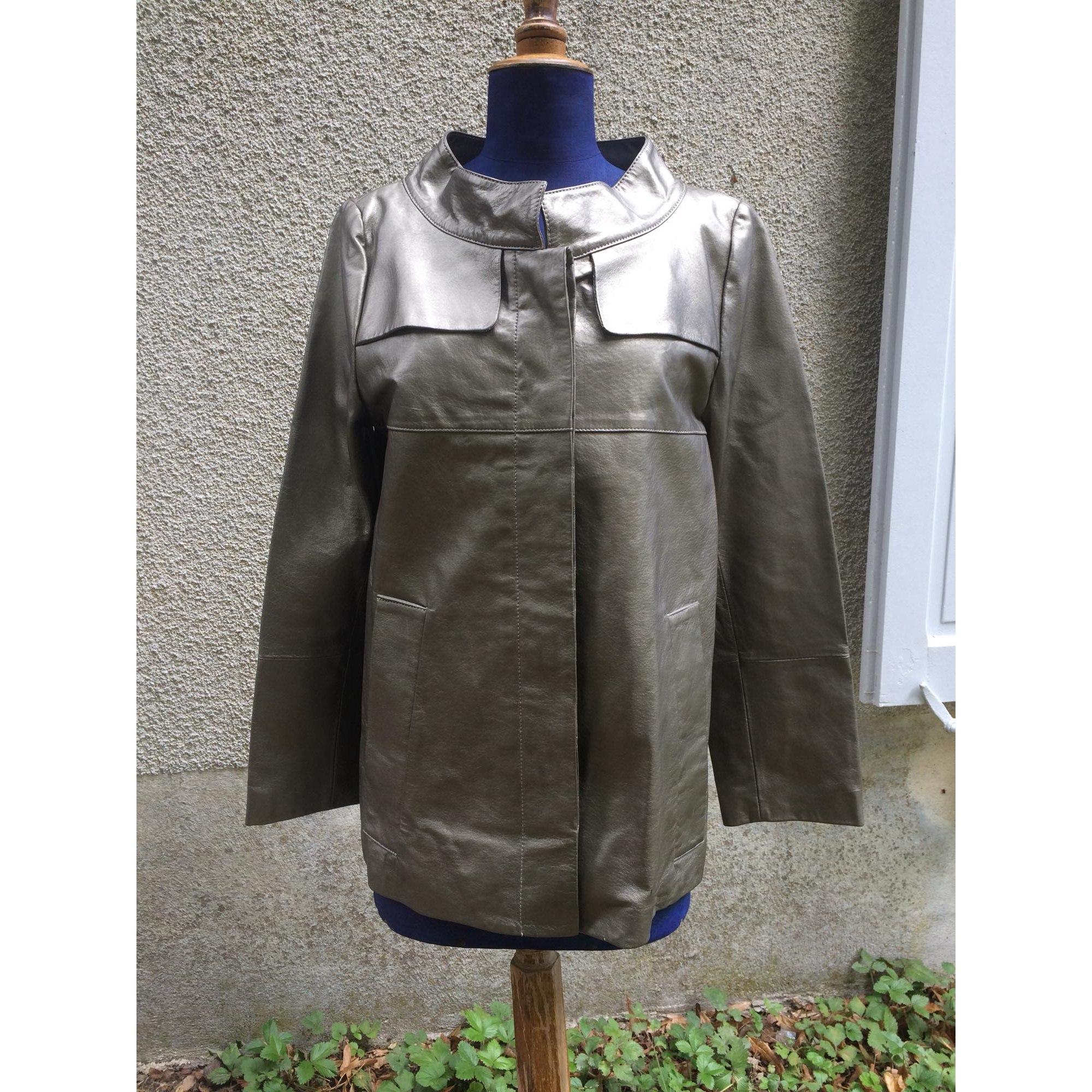 Veste en cuir KOOKAI Doré, bronze, cuivre