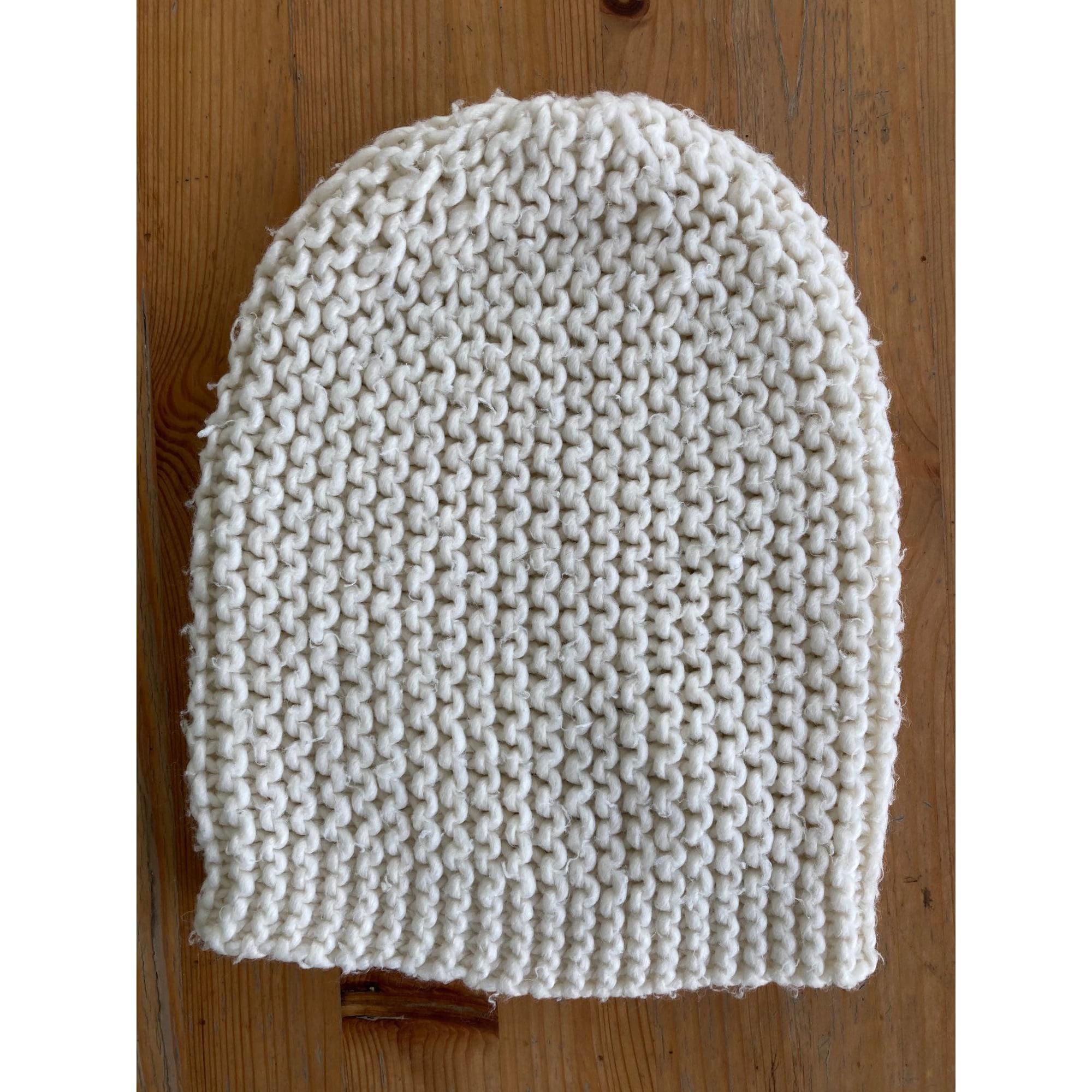 Bonnet H&M Blanc, blanc cassé, écru
