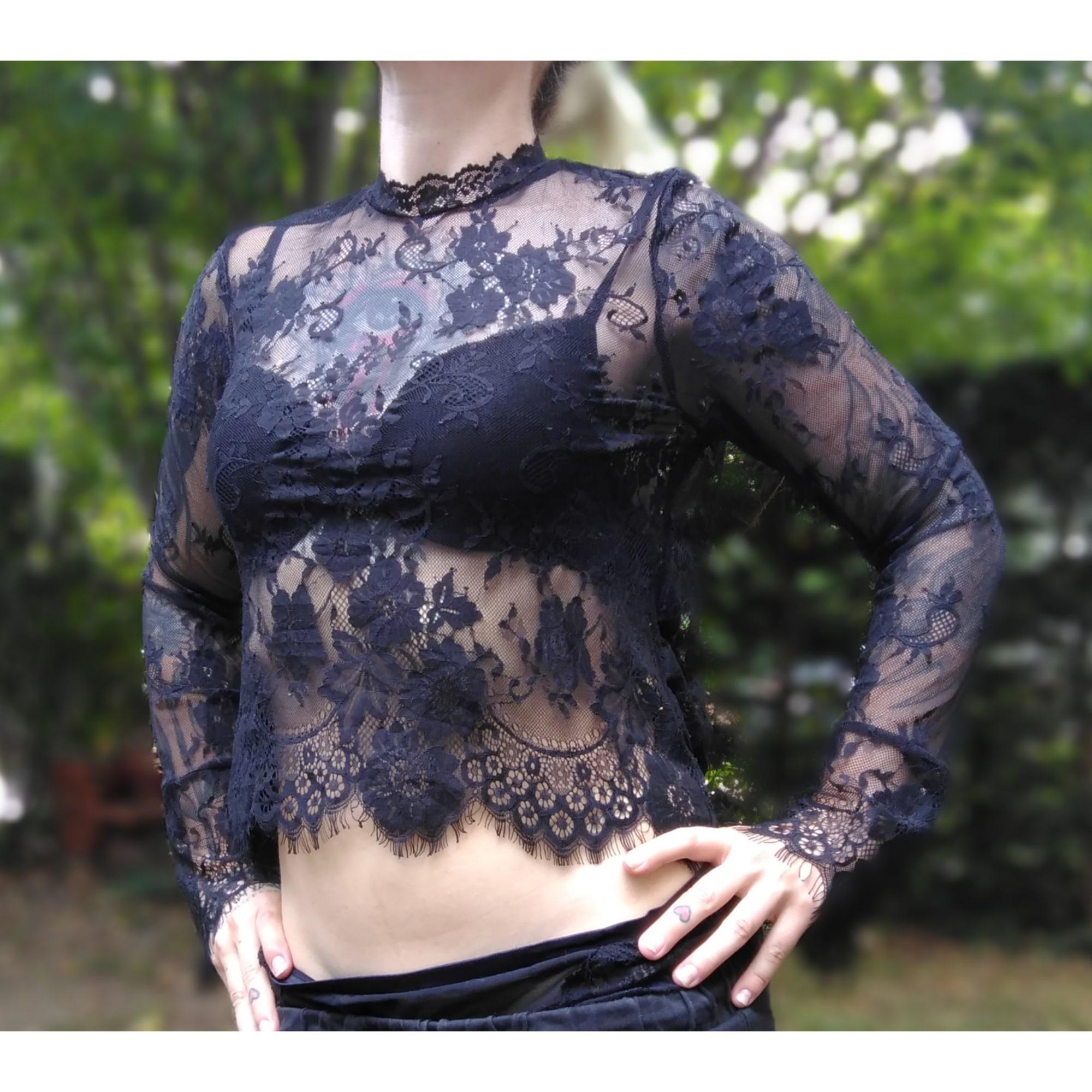 Top, tee-shirt DISTURBIA Noir