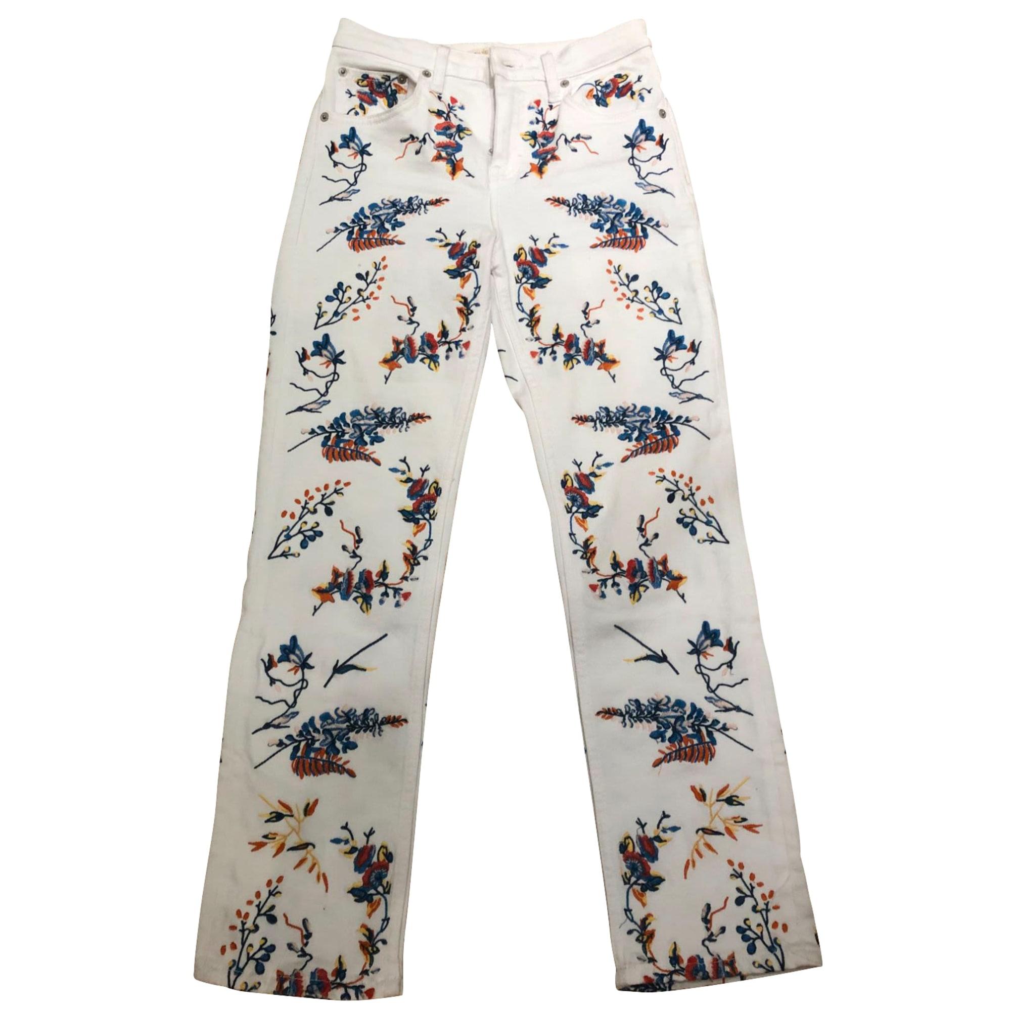Pantalon droit MAJE Blanc, blanc cassé, écru