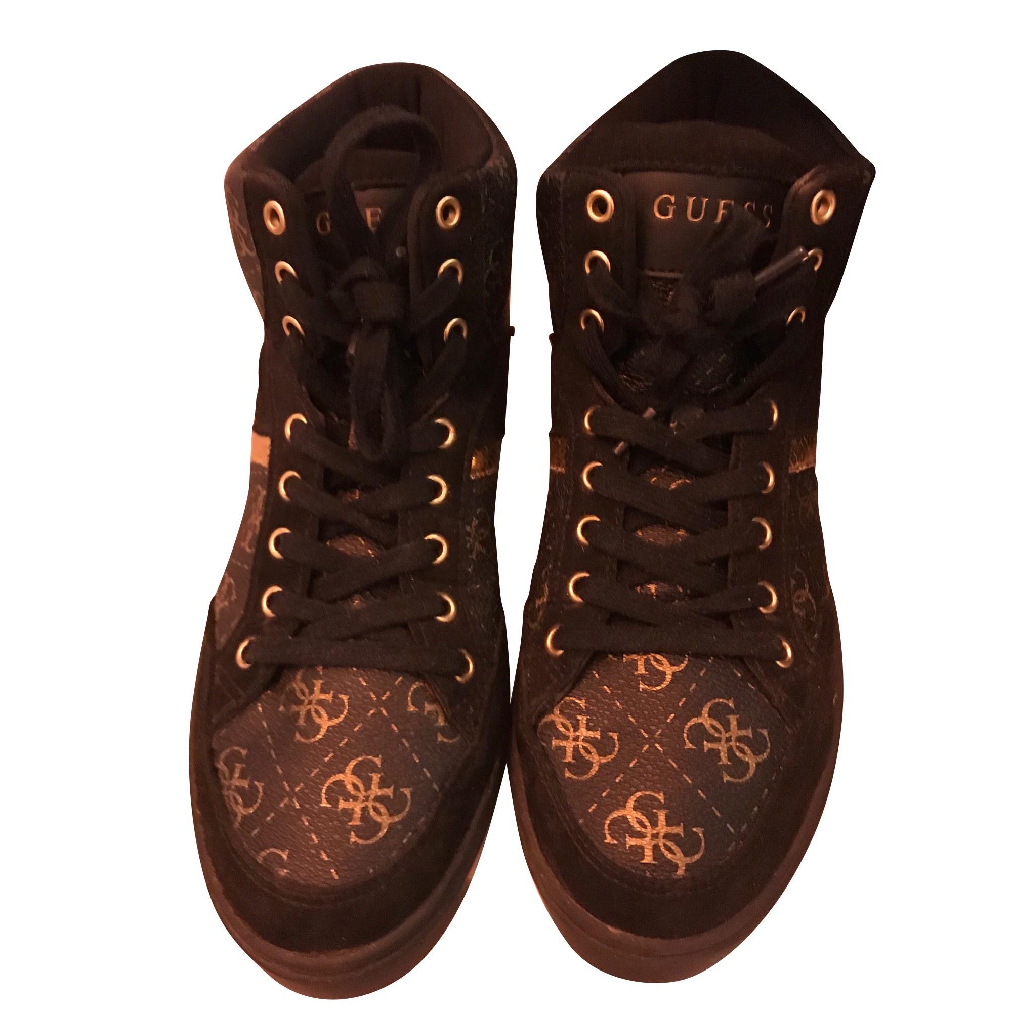Sneakers GUESS Noir et dorée