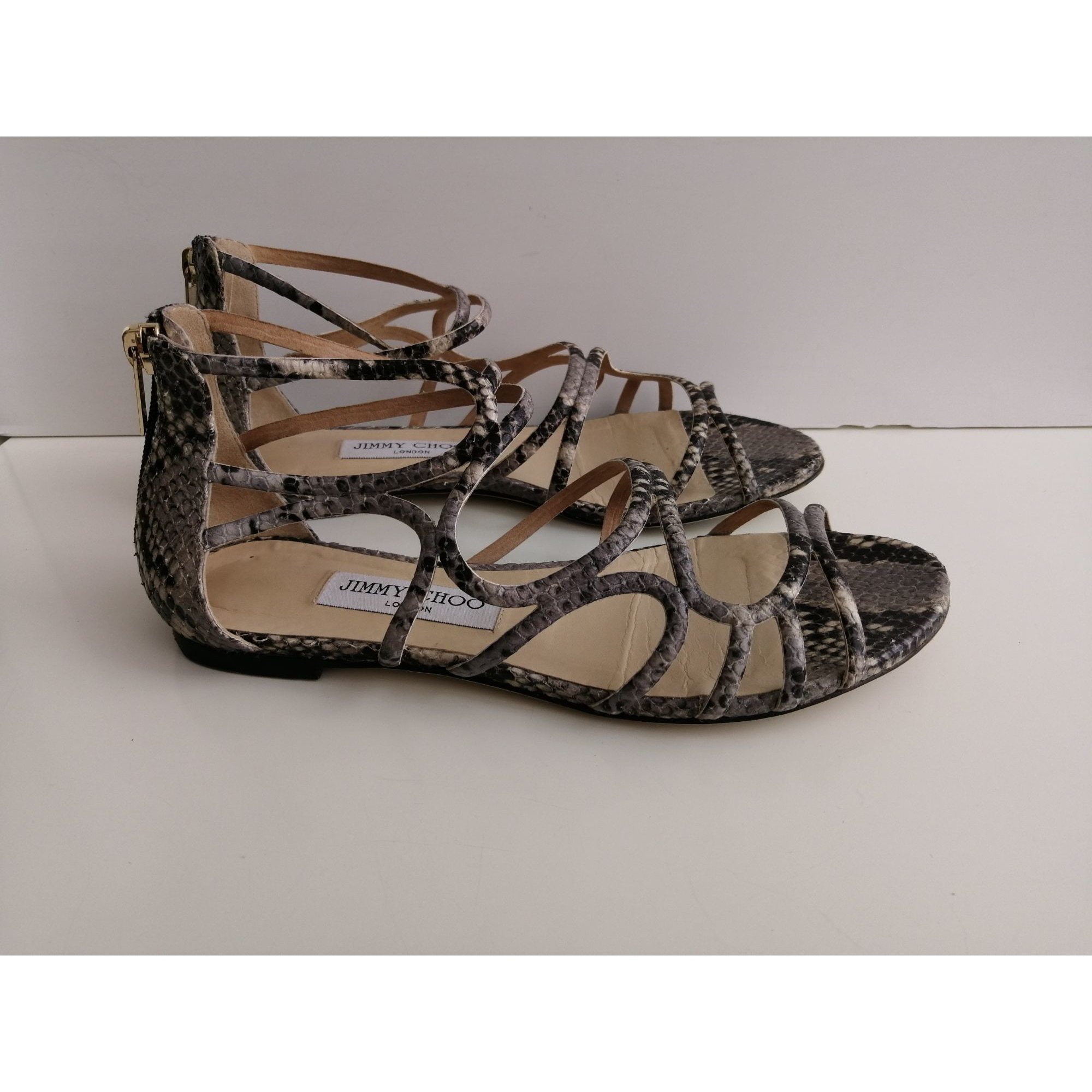 Spartiates  JIMMY CHOO Gris, anthracite
