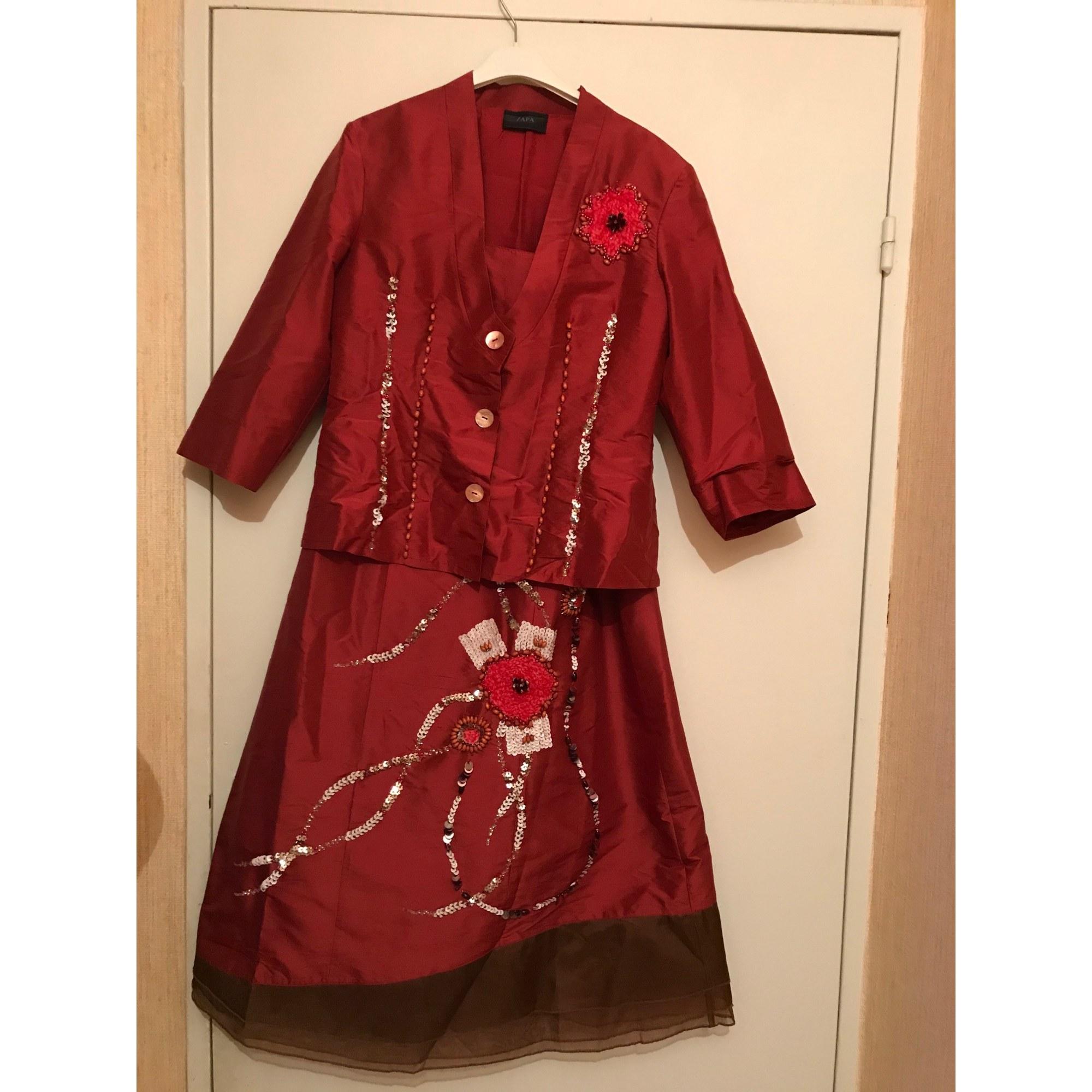 Robe longue ZAPA Rouge, bordeaux