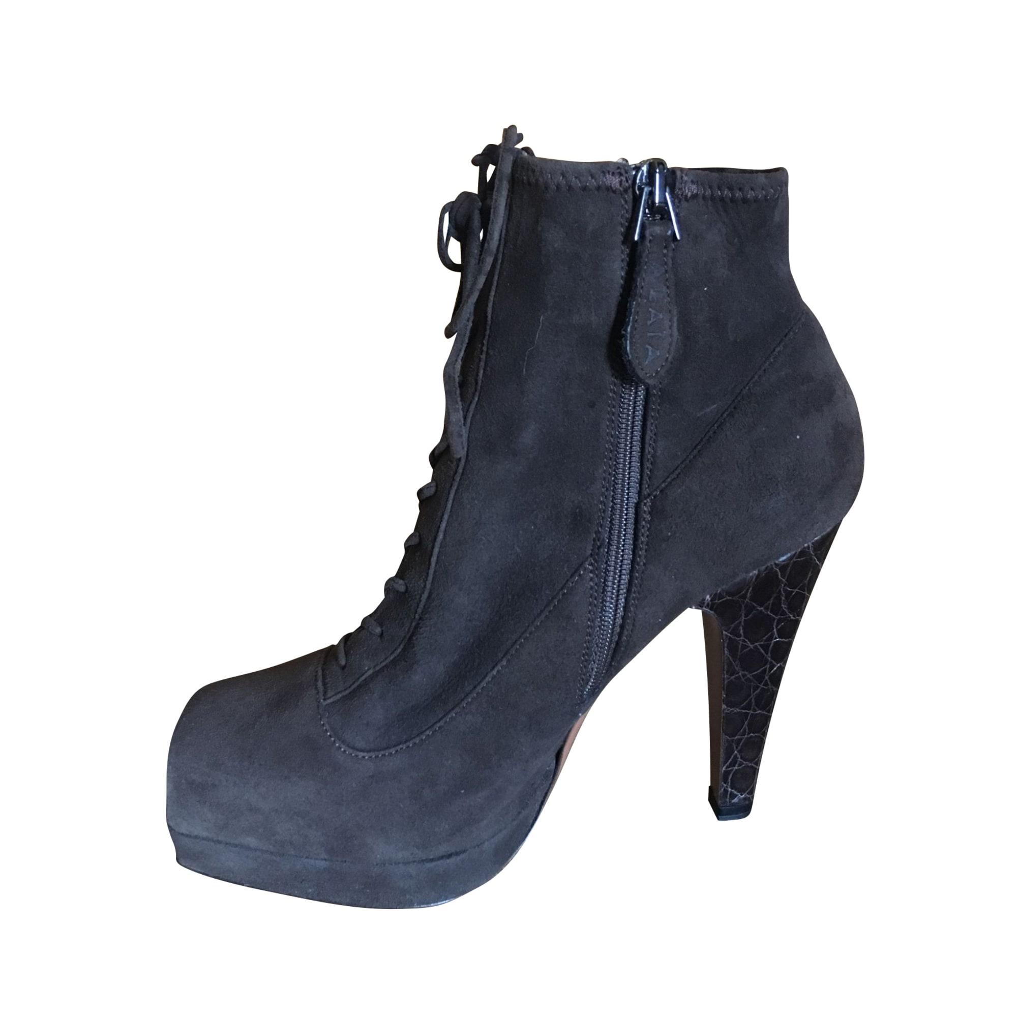 Bottines & low boots à compensés ALAÏA Marron