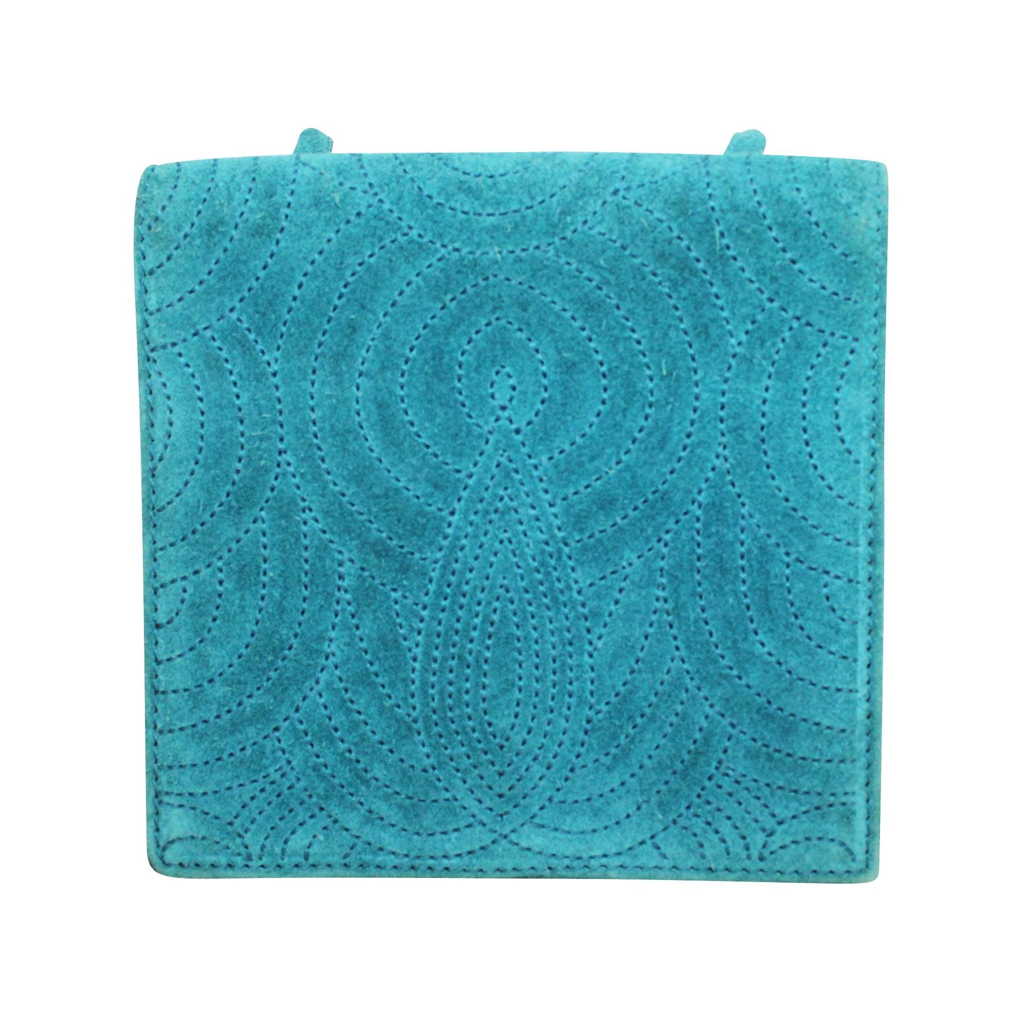 Sac en bandoulière en cuir YVES SAINT LAURENT Bleu, bleu marine, bleu turquoise