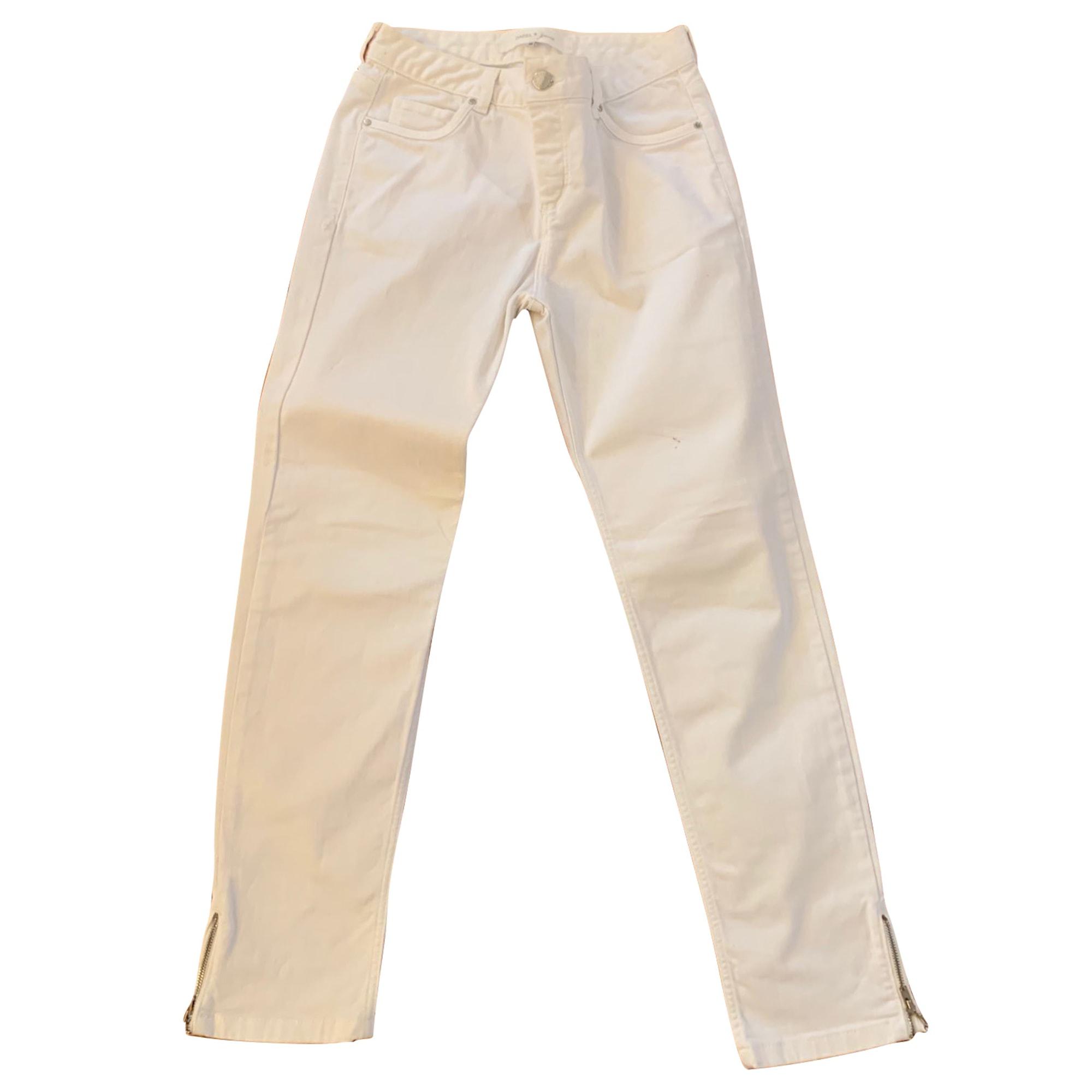 Pantalon droit GERARD DAREL Blanc, blanc cassé, écru