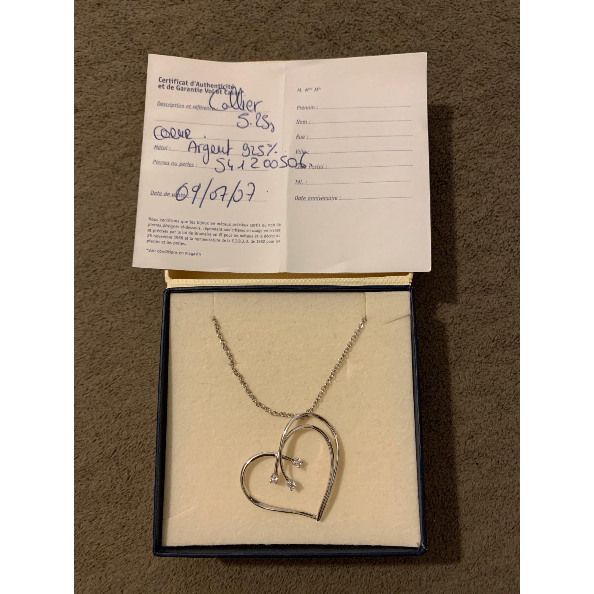 Pendentif, collier pendentif JULIEN D'ORCEL Argenté, acier