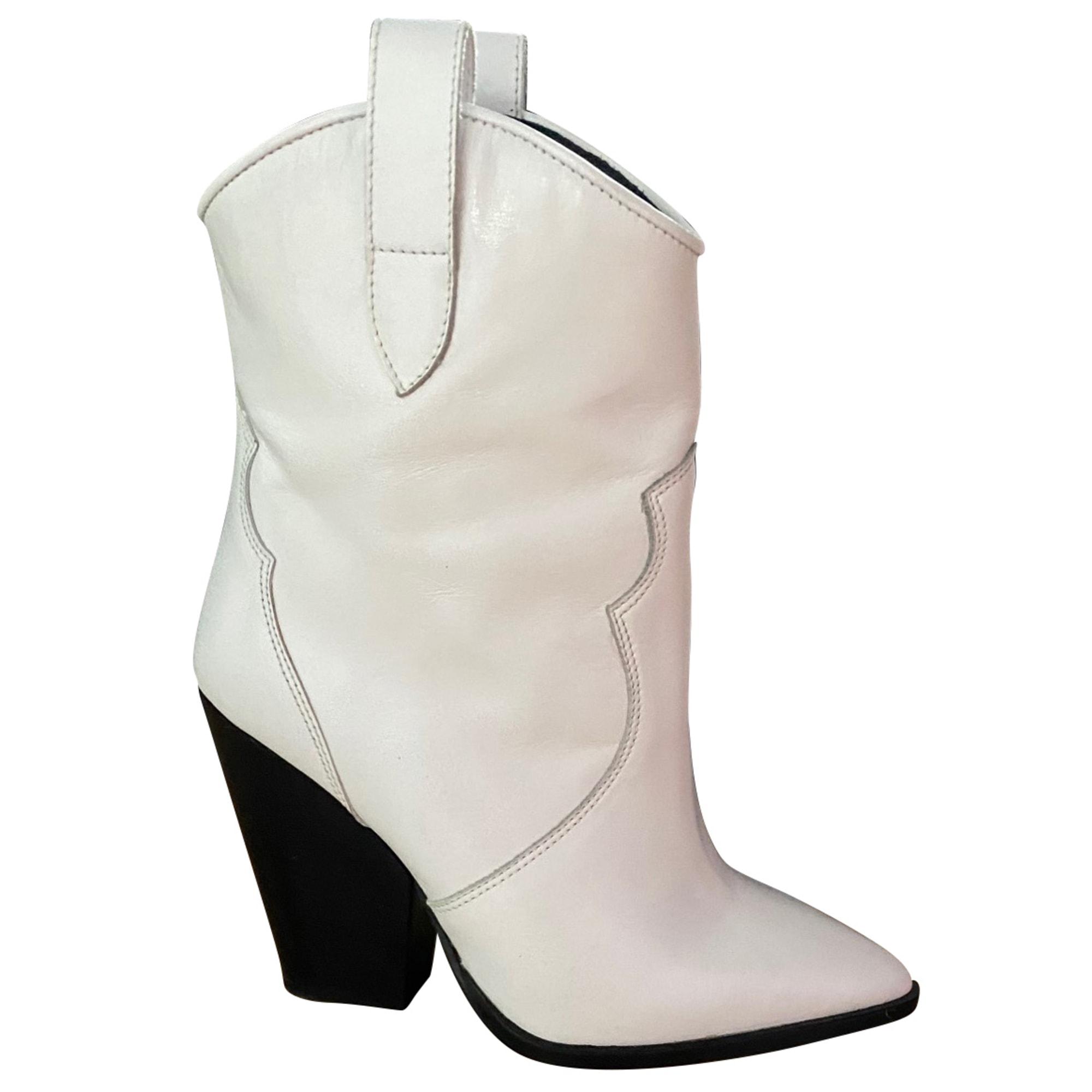 Bottines & low boots à compensés BEL AIR Blanc, blanc cassé, écru