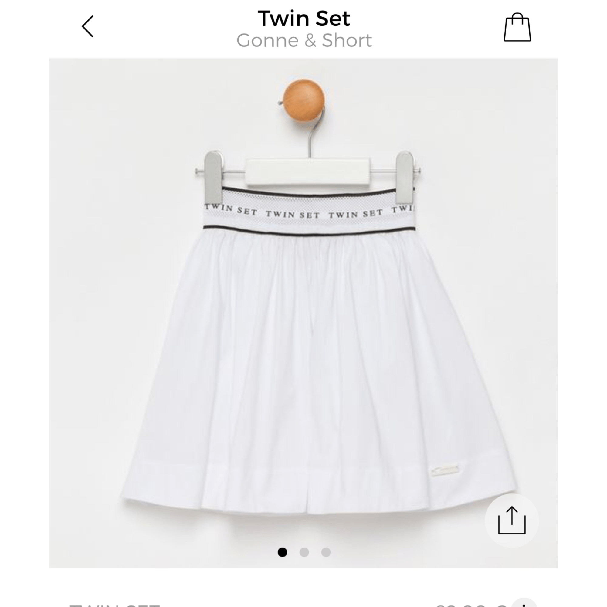 Jupe TWIN-SET SIMONA BARBIERI Blanc, blanc cassé, écru