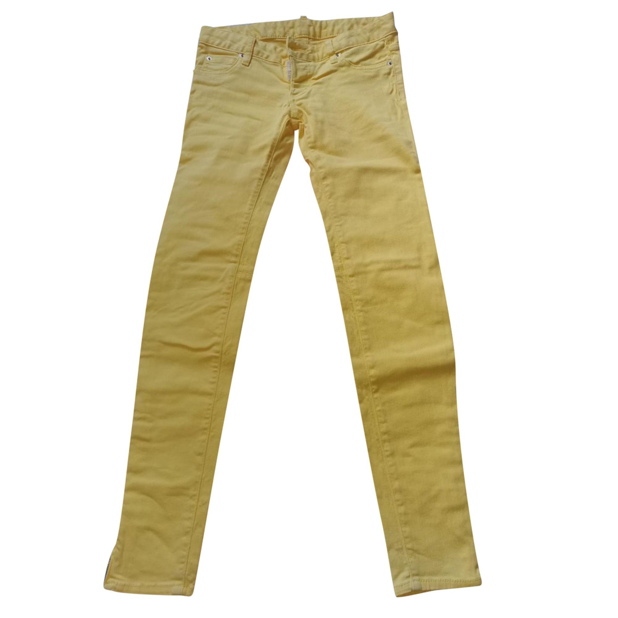 Jeans droit DSQUARED2 Jaune