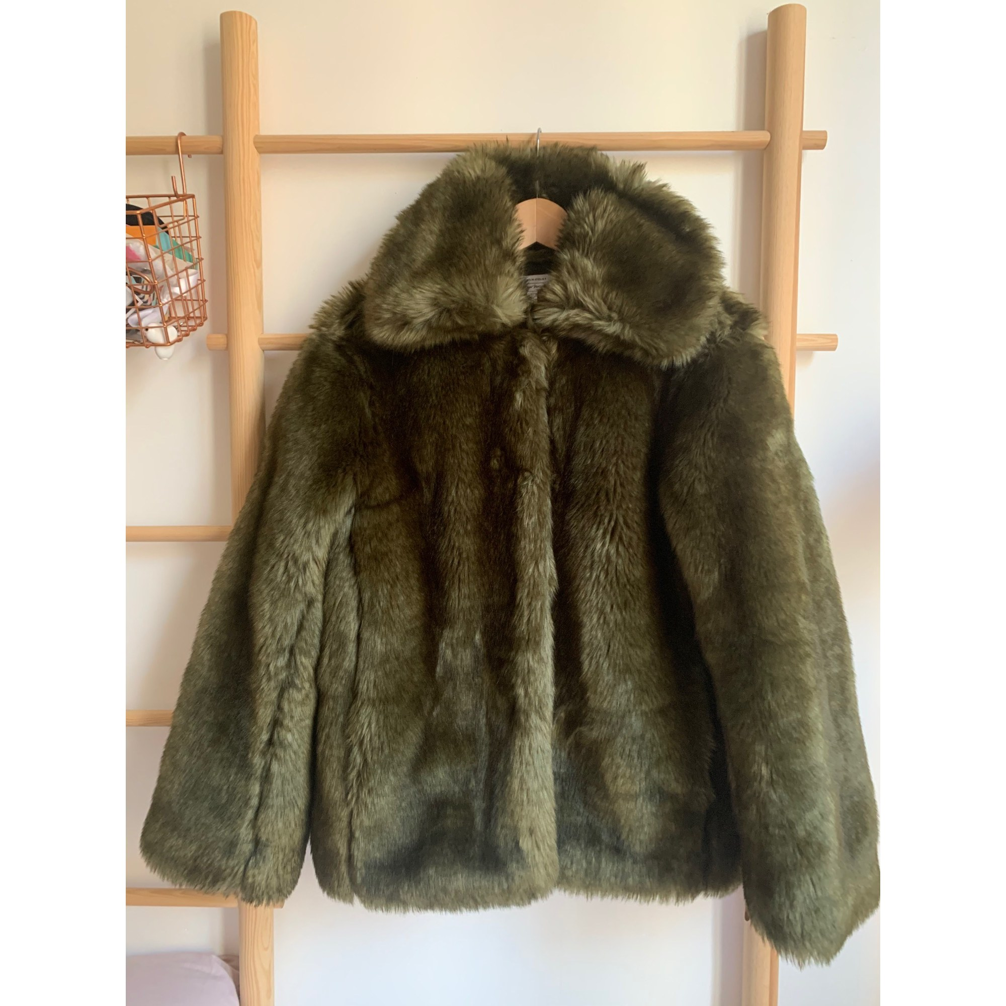Blouson, veste en fourrure & OTHER STORIES Vert