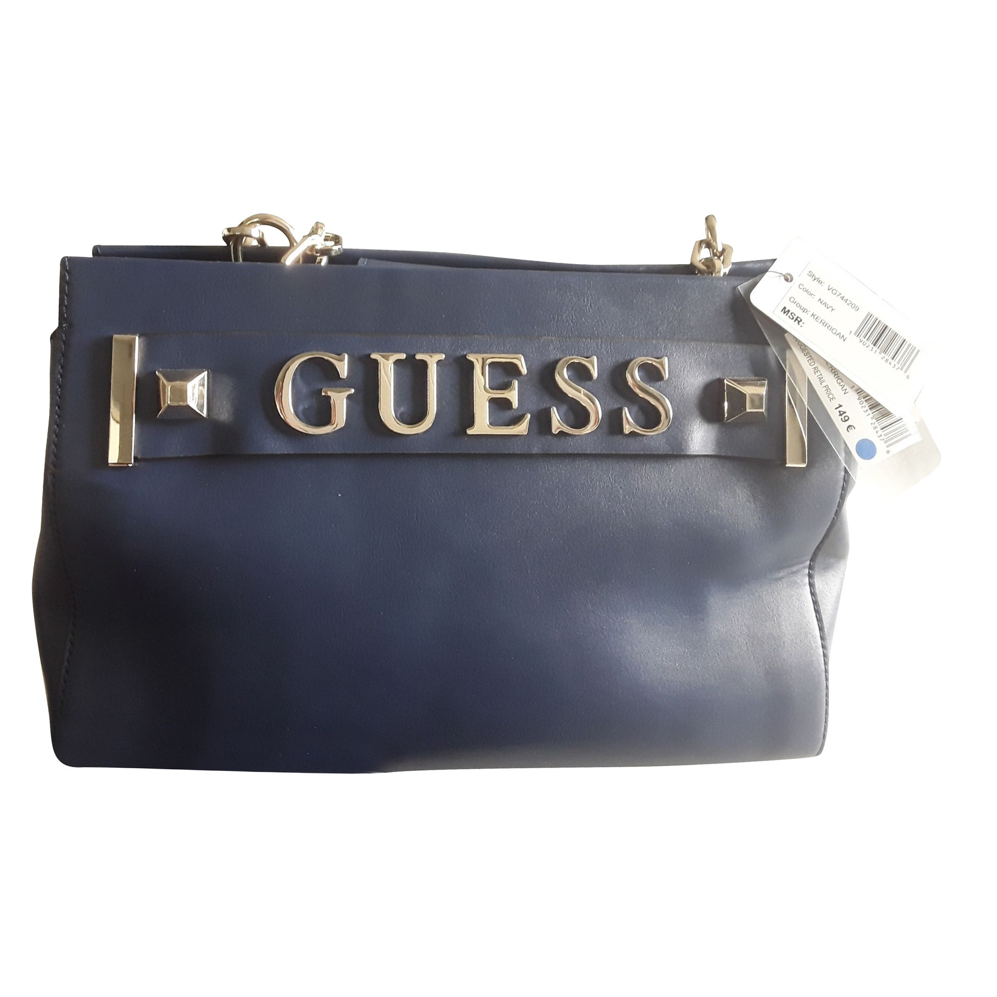 Leather Handbag GUESS Blue, navy, turquoise