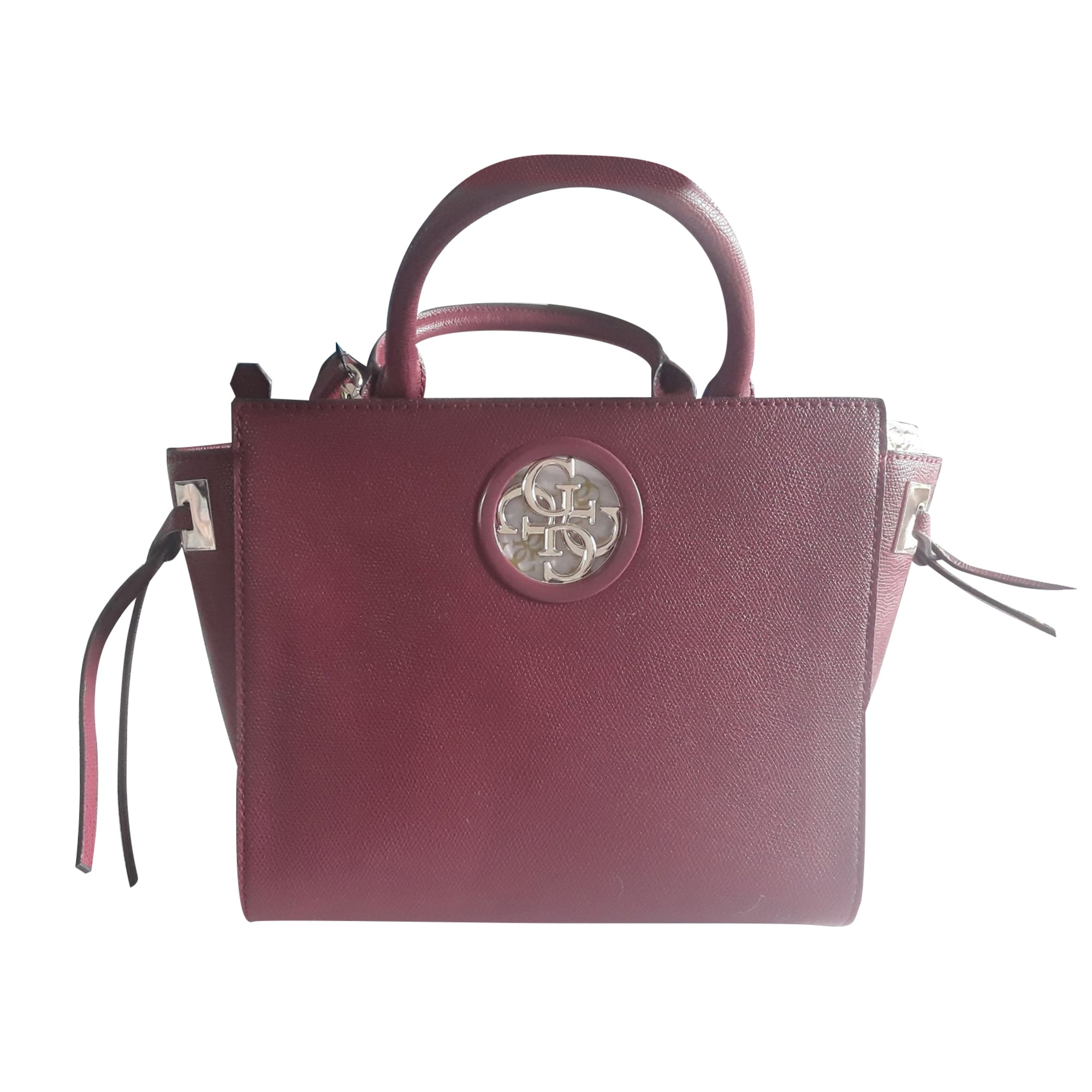 Leather Handbag GUESS Red, burgundy