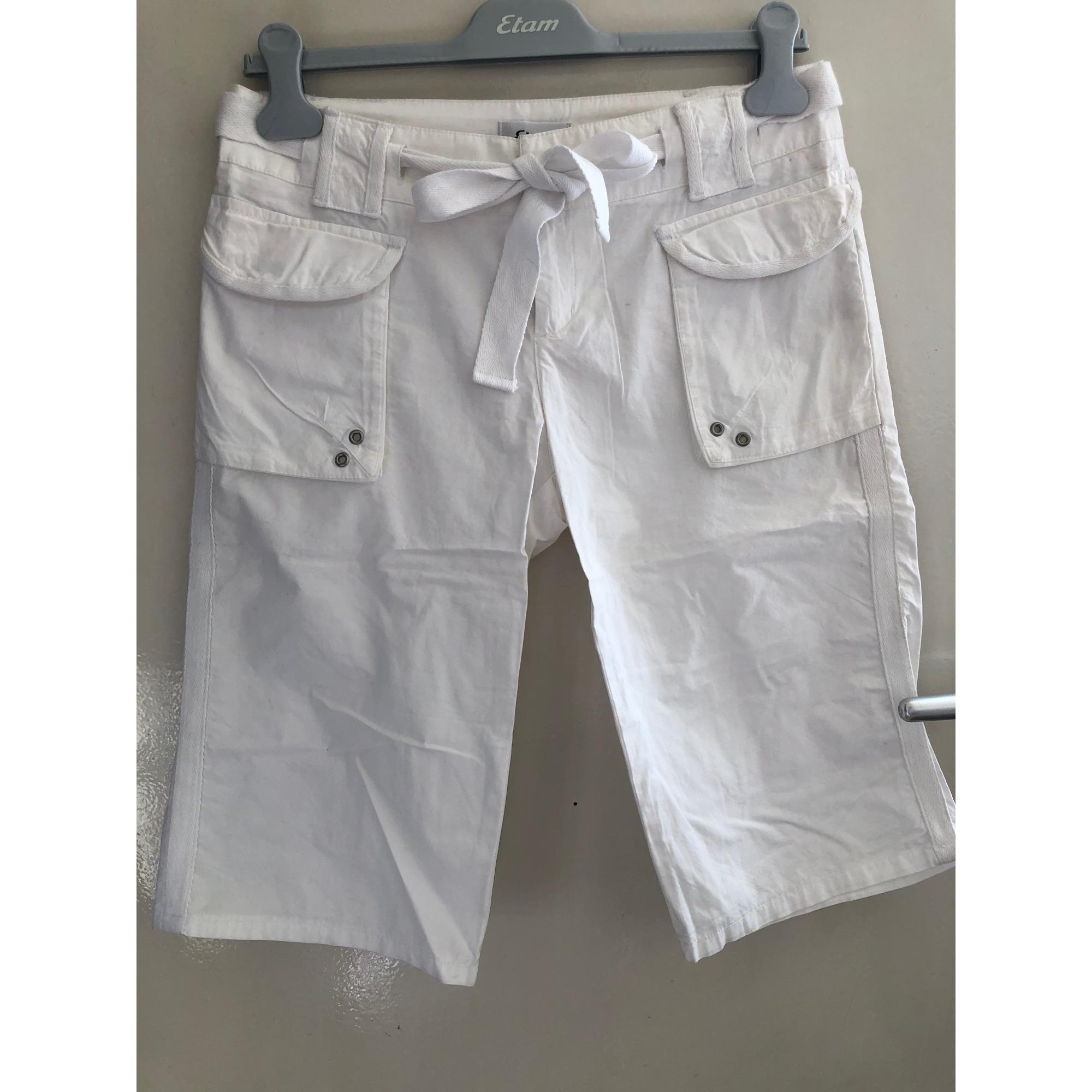 Short ETAM Blanc, blanc cassé, écru