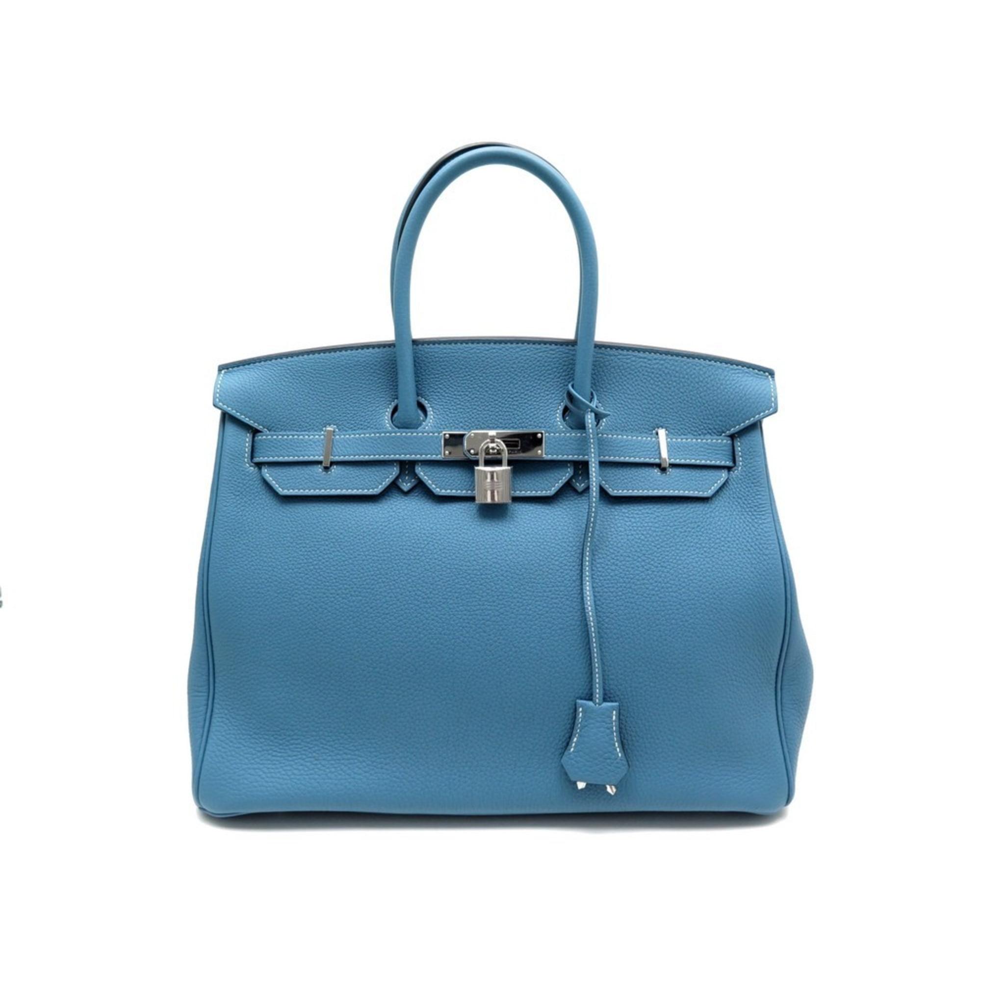 Lederhandtasche HERMÈS Birkin Bleu