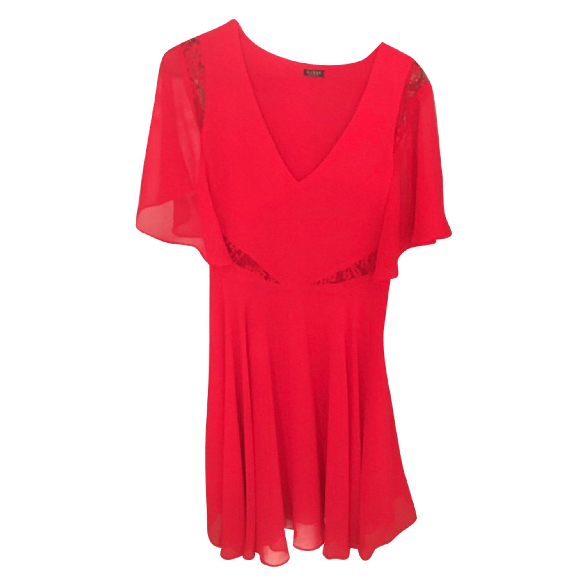 Midi Dress GUESS Red, burgundy