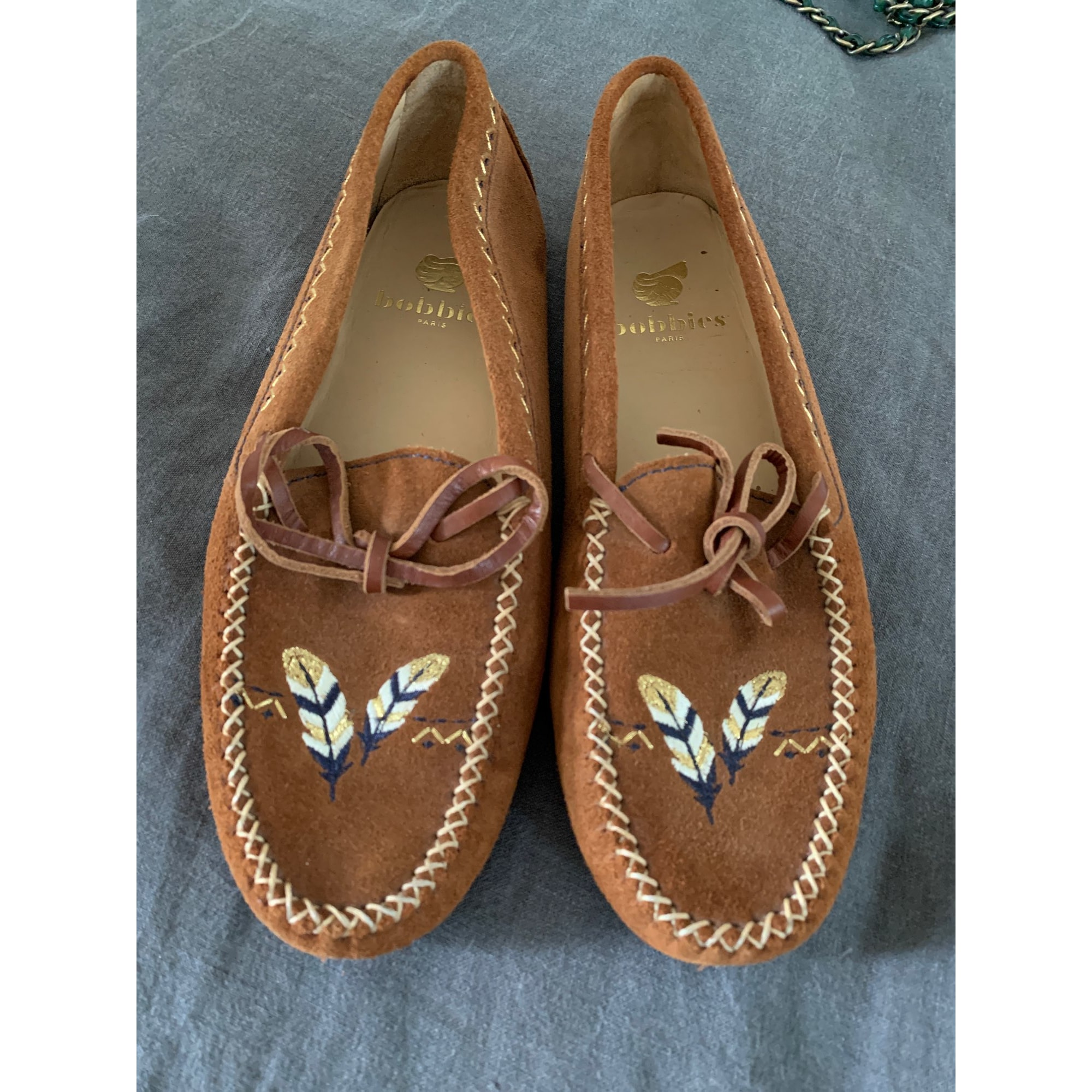 Mocassins BOBBIES Beige, camel