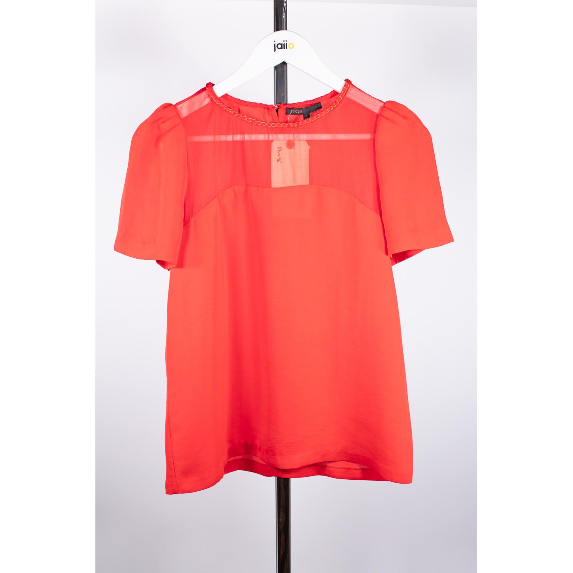 Top, tee-shirt MAJE Rouge, bordeaux