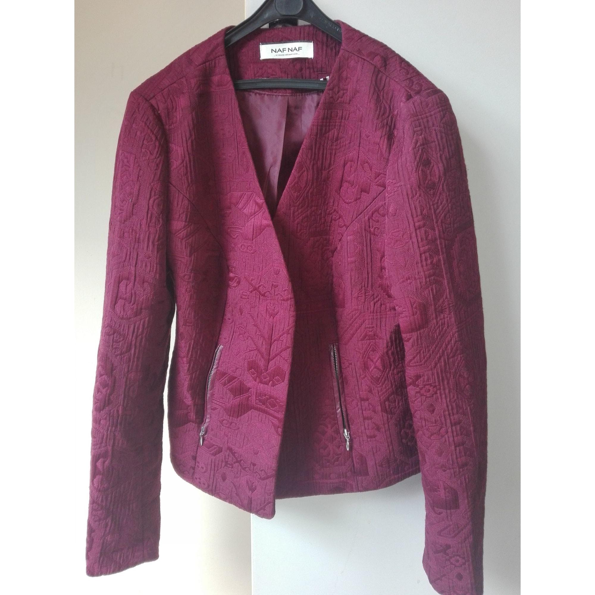 Blazer, veste tailleur NAF NAF Rouge, bordeaux