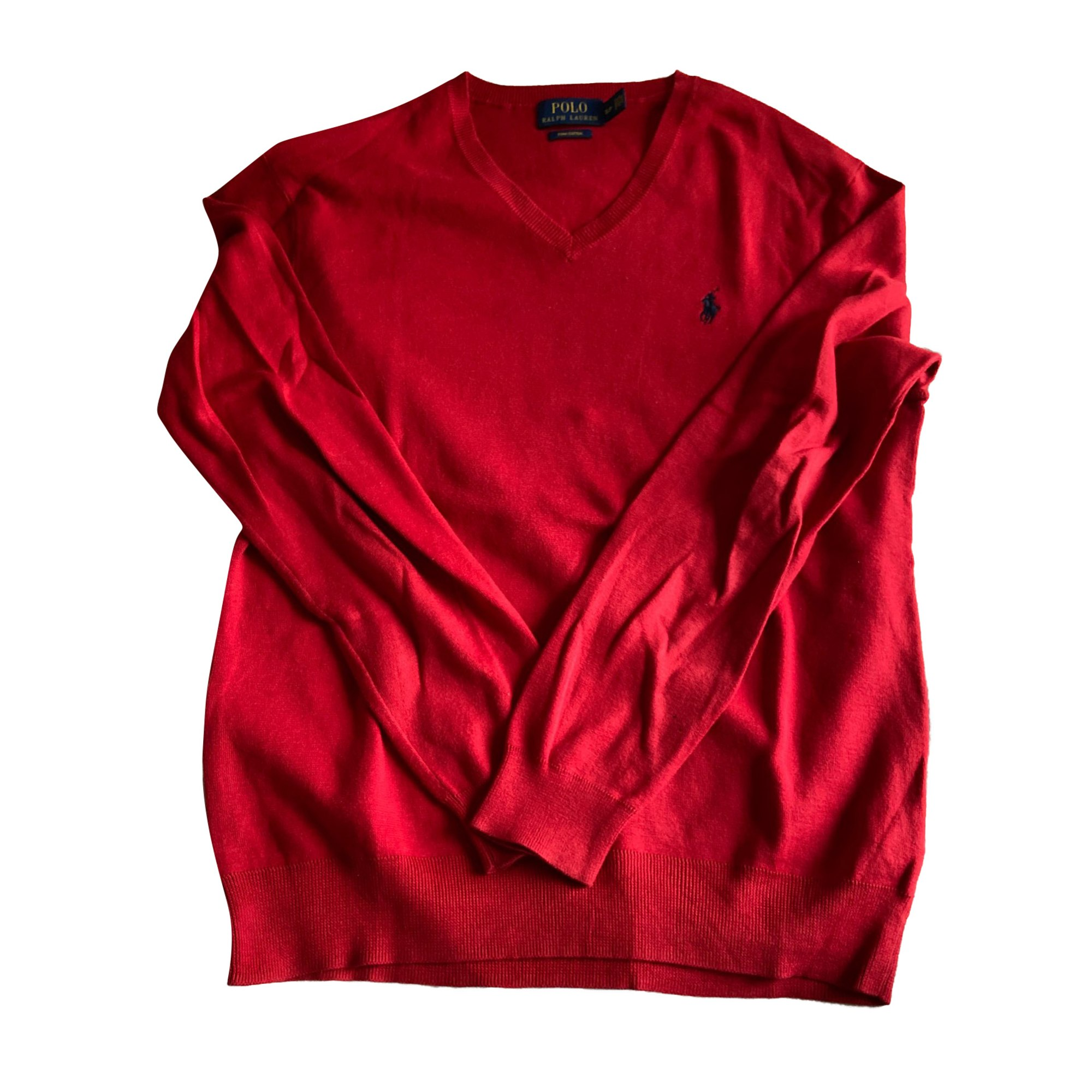 Pull RALPH LAUREN Rouge, bordeaux