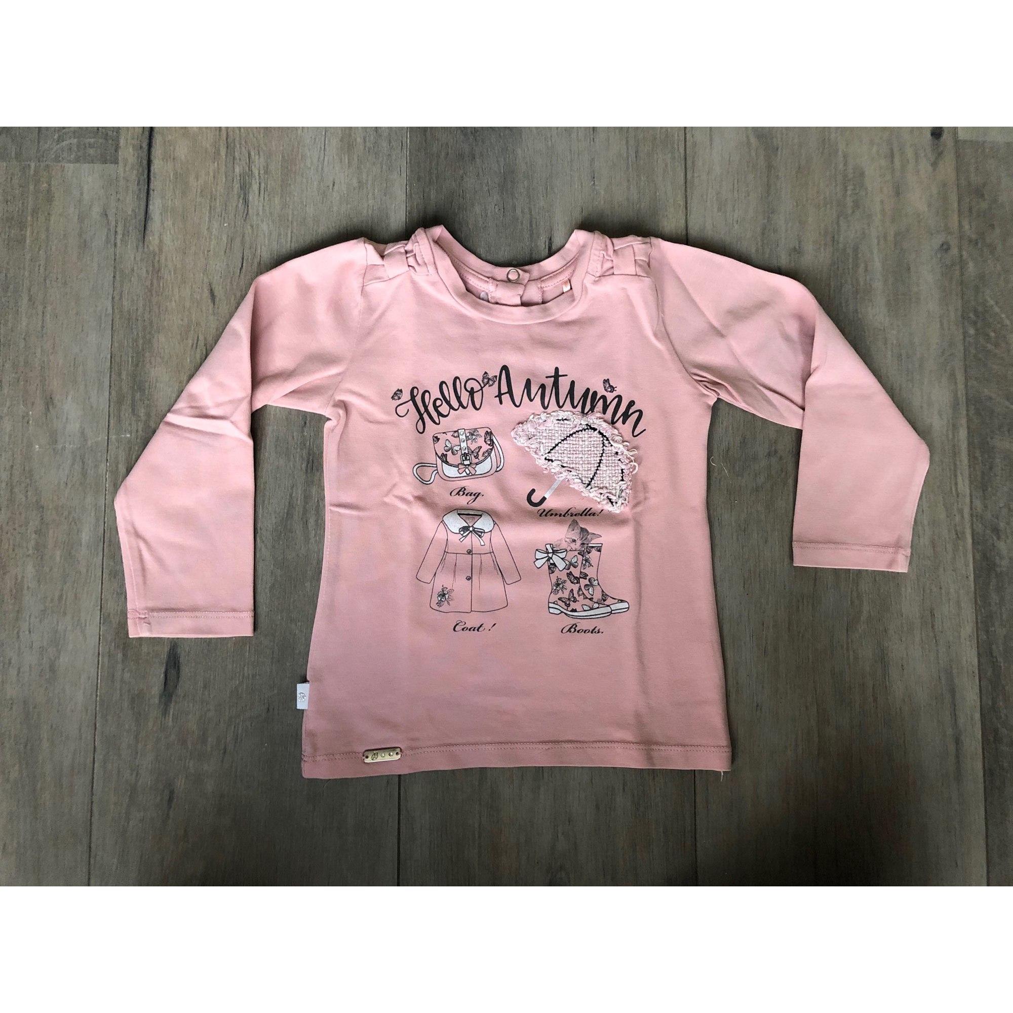 Top, Tee-shirt BEBAKIDS Rose, fuschia, vieux rose