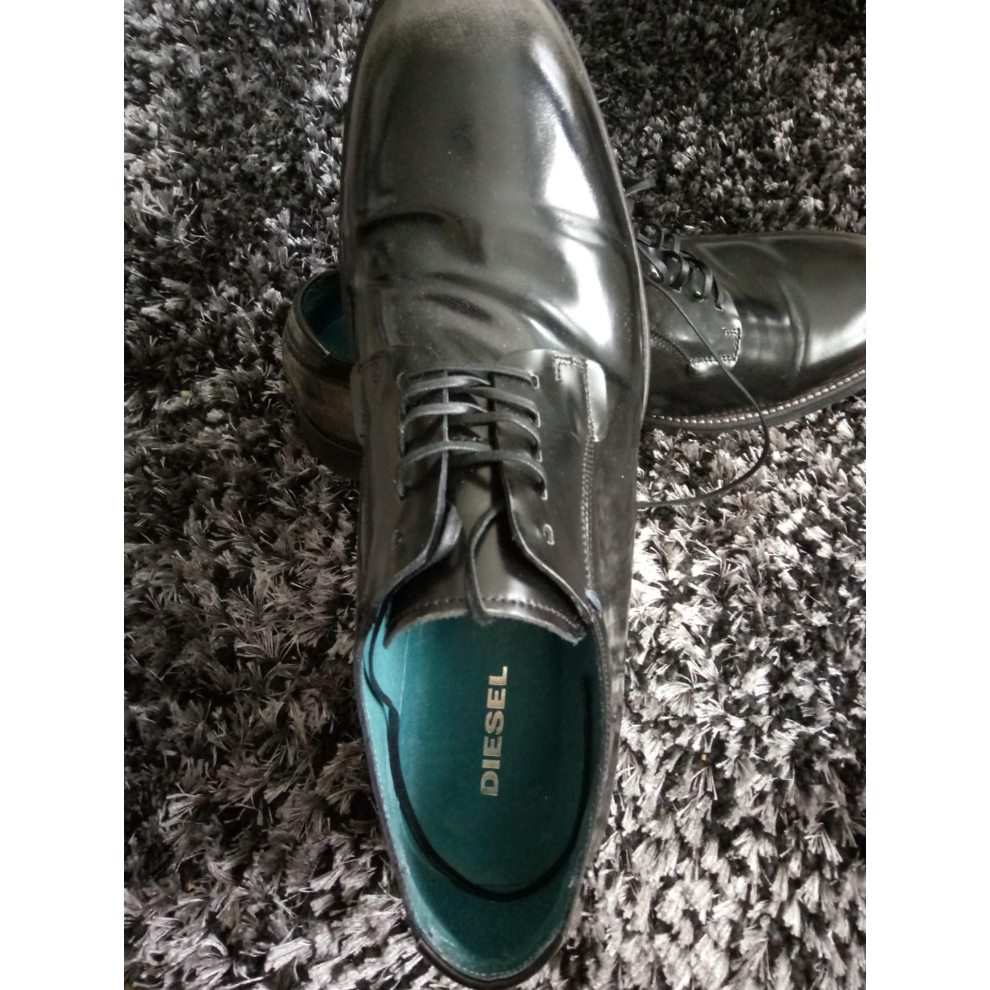 Chaussures à lacets DIESEL Noir