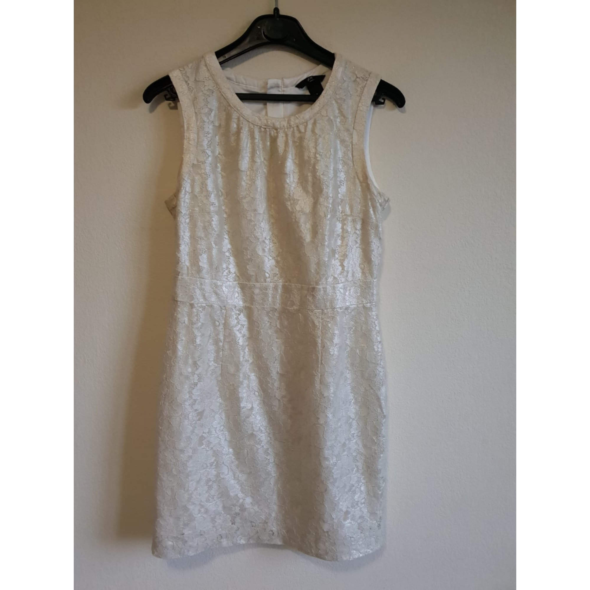Robe mi-longue H&M Blanc, blanc cassé, écru